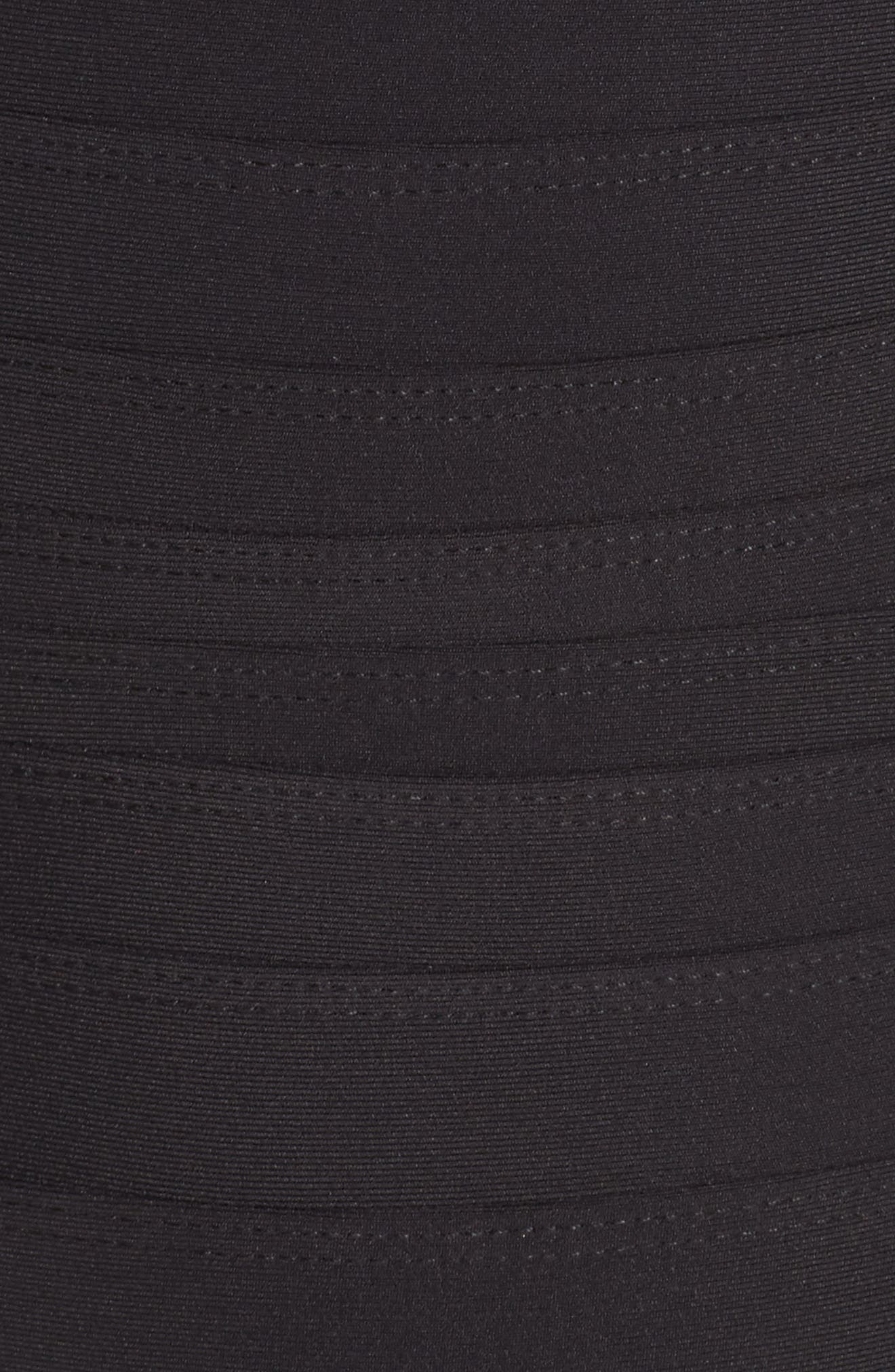 'Spectra' Banded Maillot,                             Alternate thumbnail 5, color,                             Black Tones