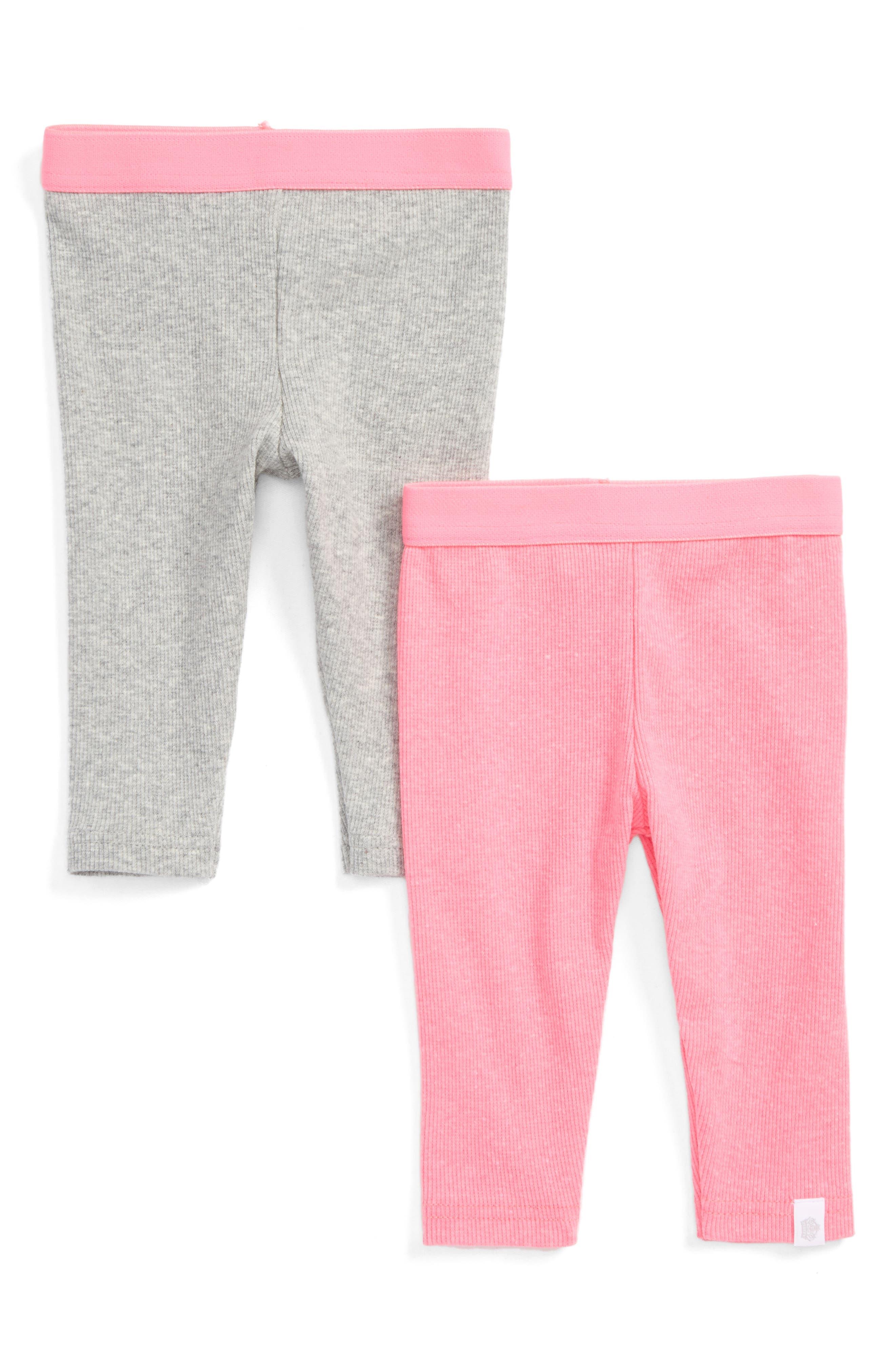 2-Pack Ribbed Leggings,                         Main,                         color, Pink
