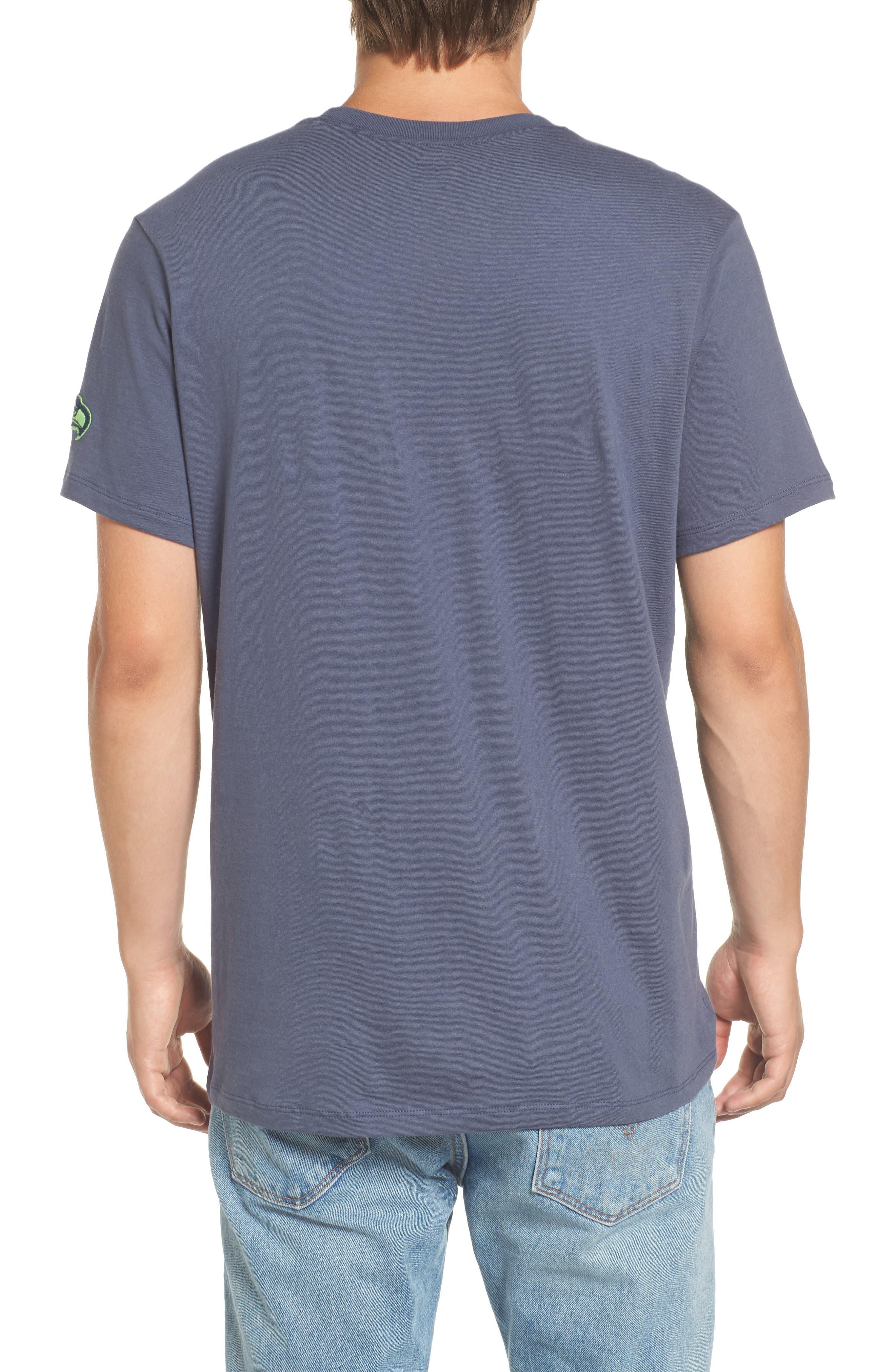 Seattle Seahawks Borderland T-Shirt,                             Alternate thumbnail 2, color,                             Navy