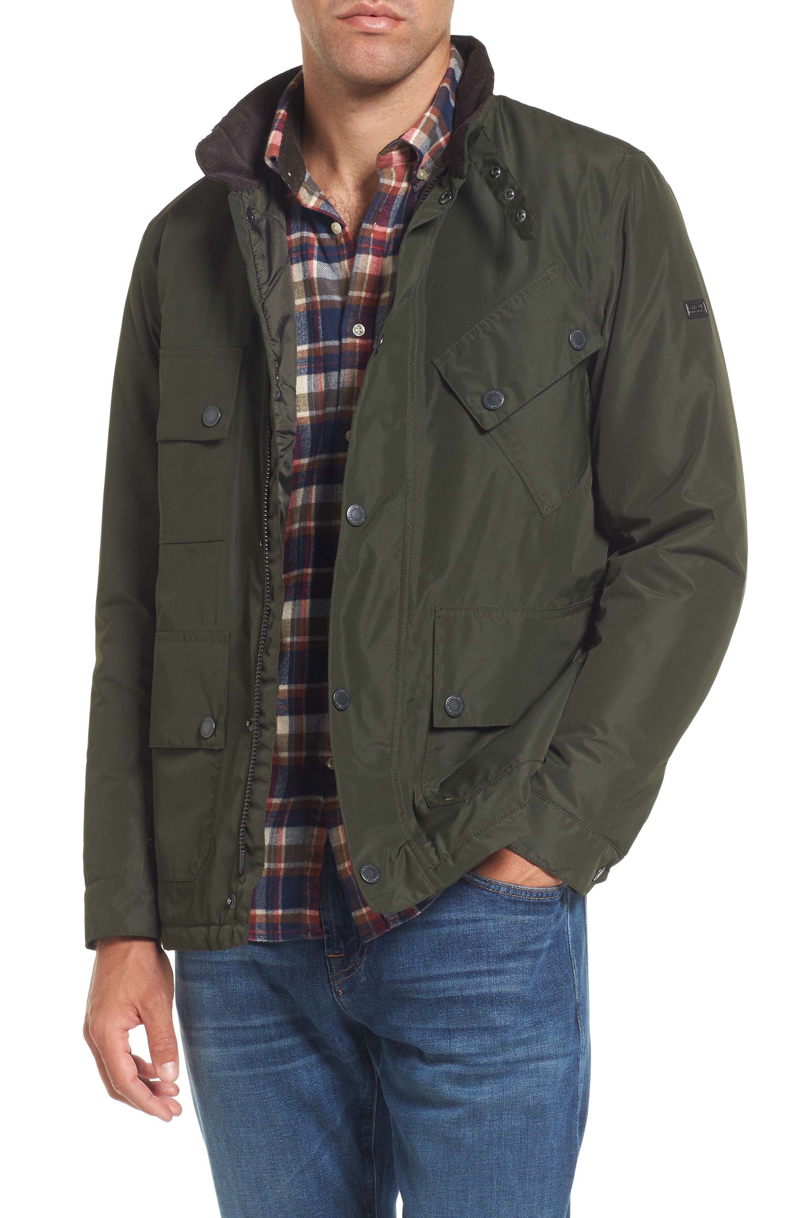B.International Tyne Waterproof Jacket,                         Main,                         color, Sage