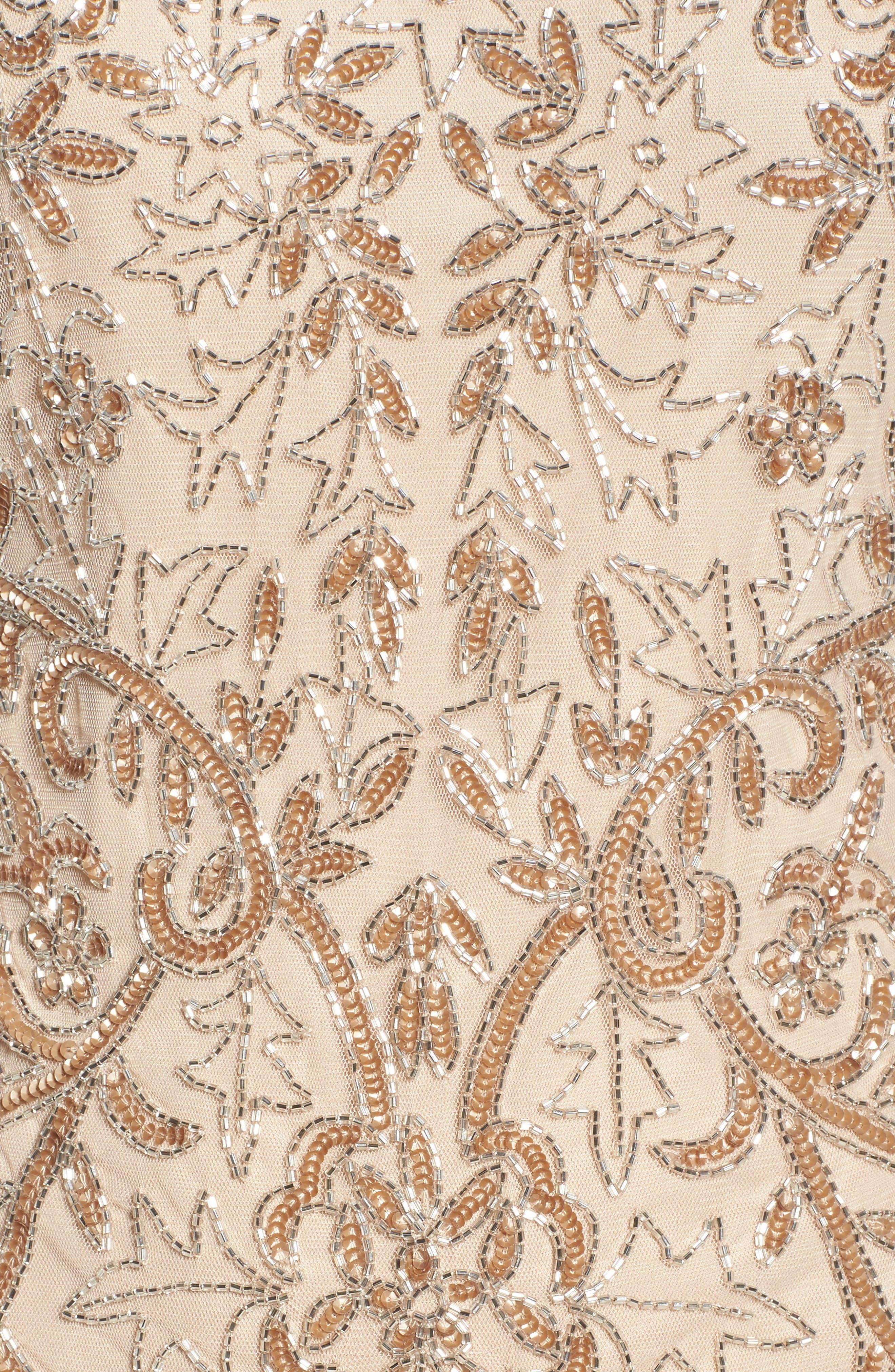 Alternate Image 5  - Pisarro Nights Embellished Illusion Sheath Dress (Regular & Petite)