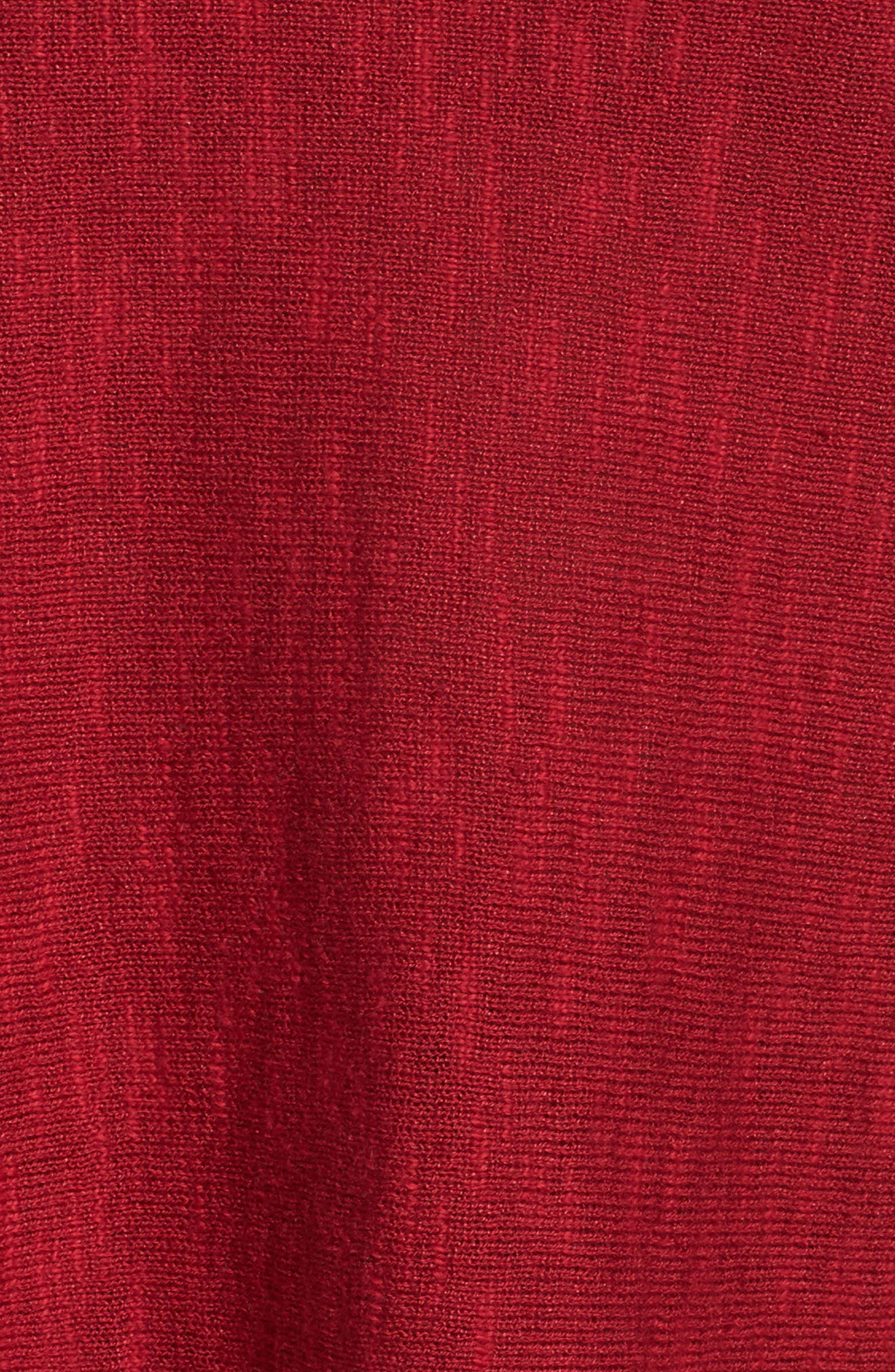 Organic Linen & Cotton Sweater,                             Alternate thumbnail 5, color,                             China Red