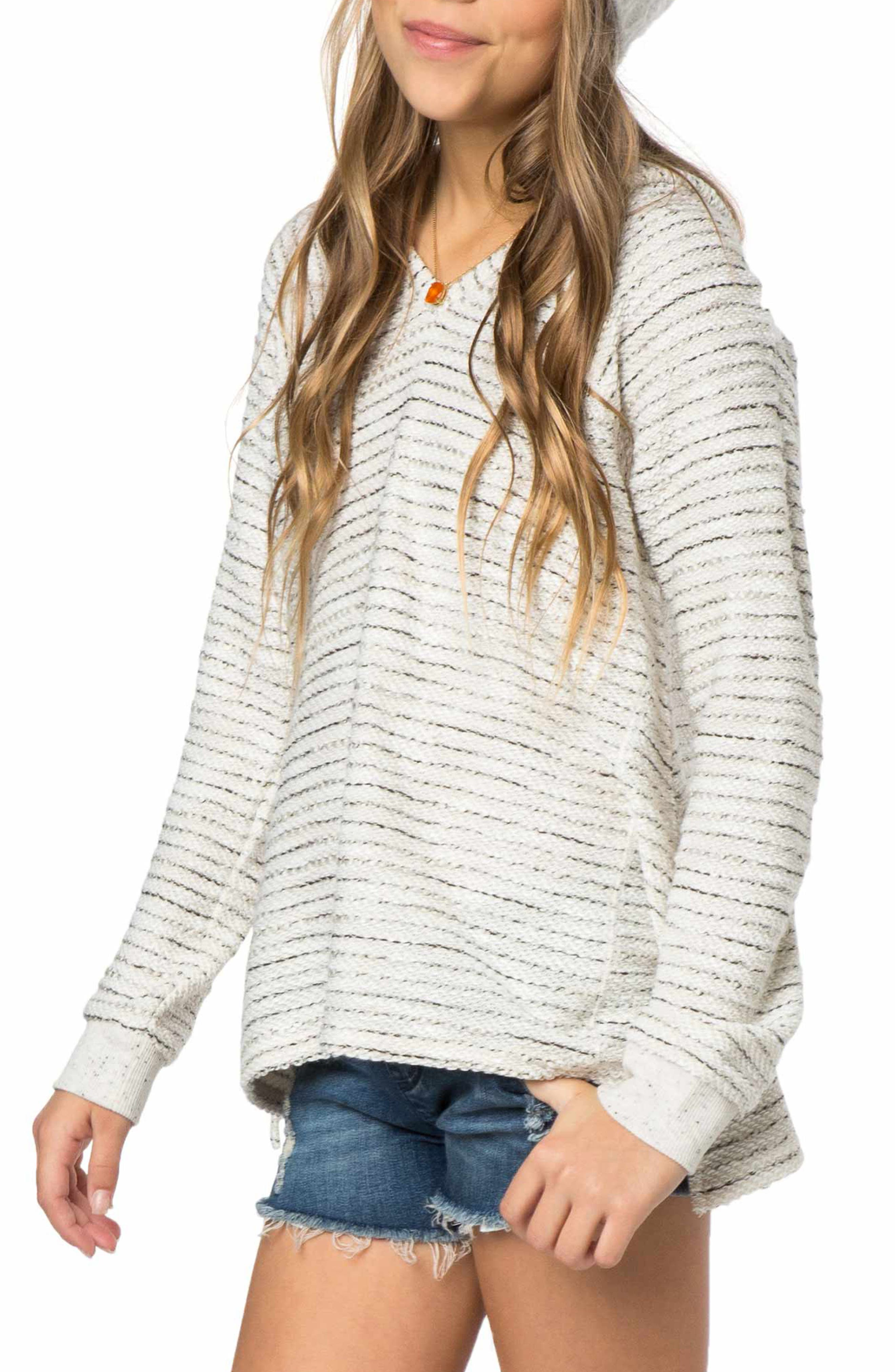 Aspen Stripe Hoodie,                             Main thumbnail 1, color,                             Naked