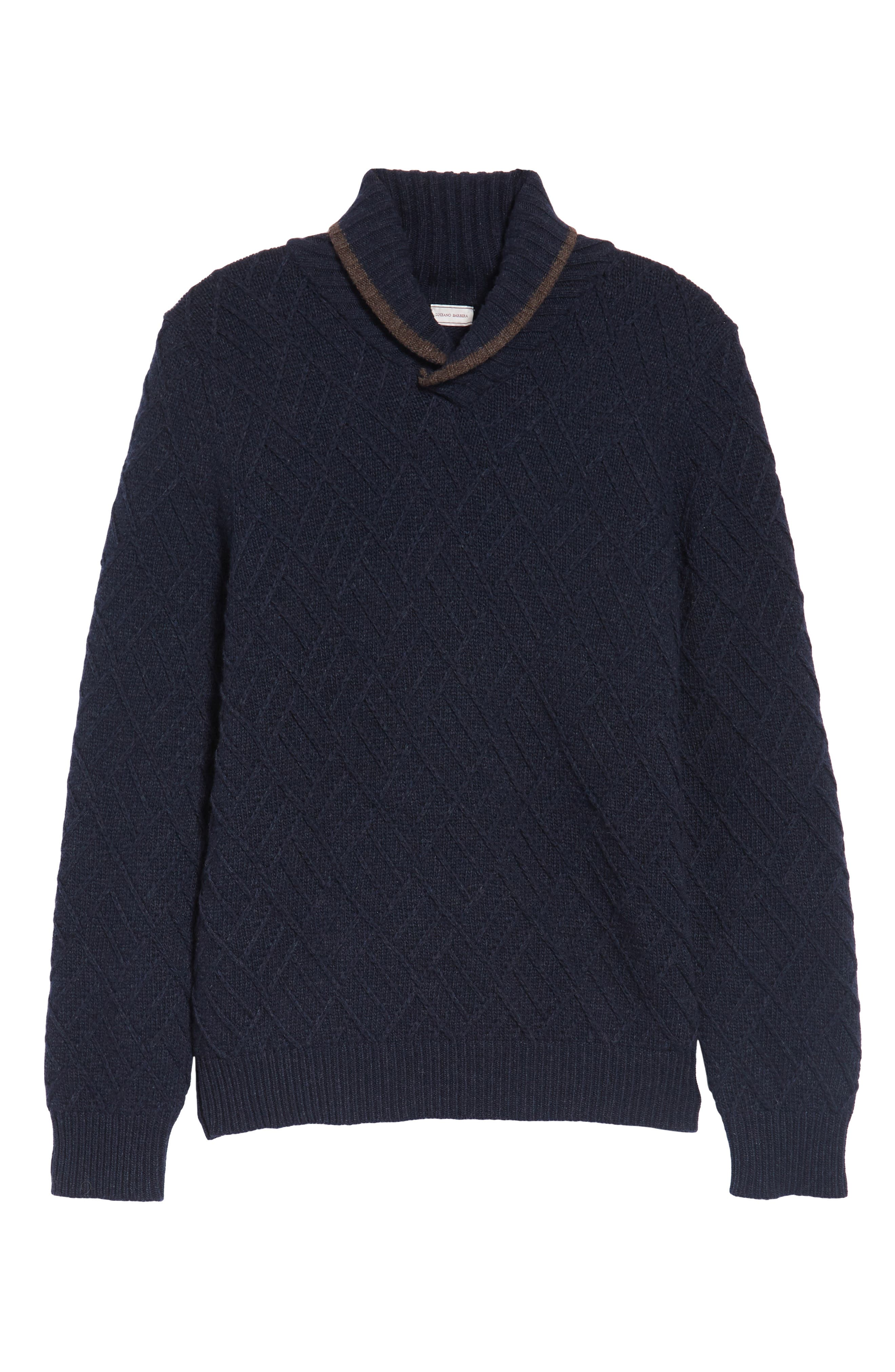 Alternate Image 6  - Luciano Barbera Textured Wool Sweater