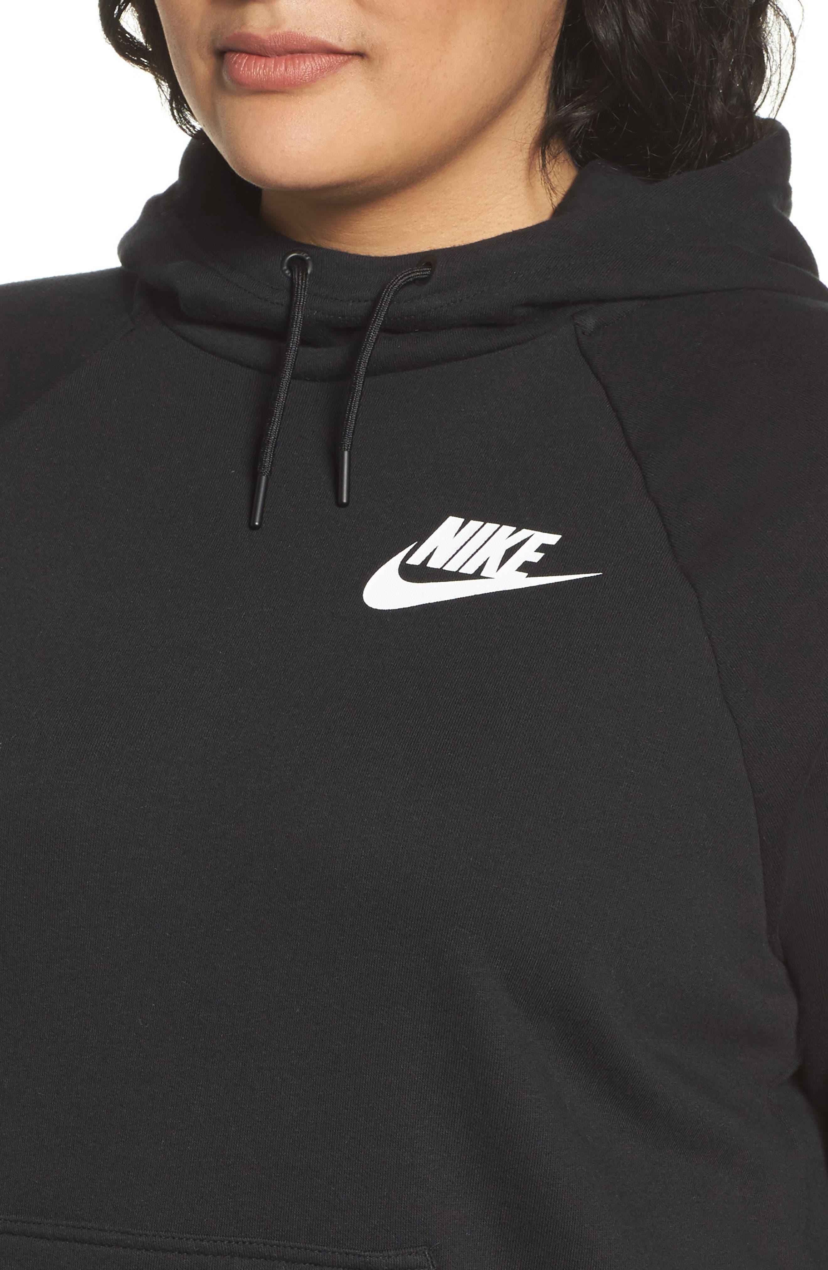 Alternate Image 4  - Nike Rally Hoodie (Plus Size)
