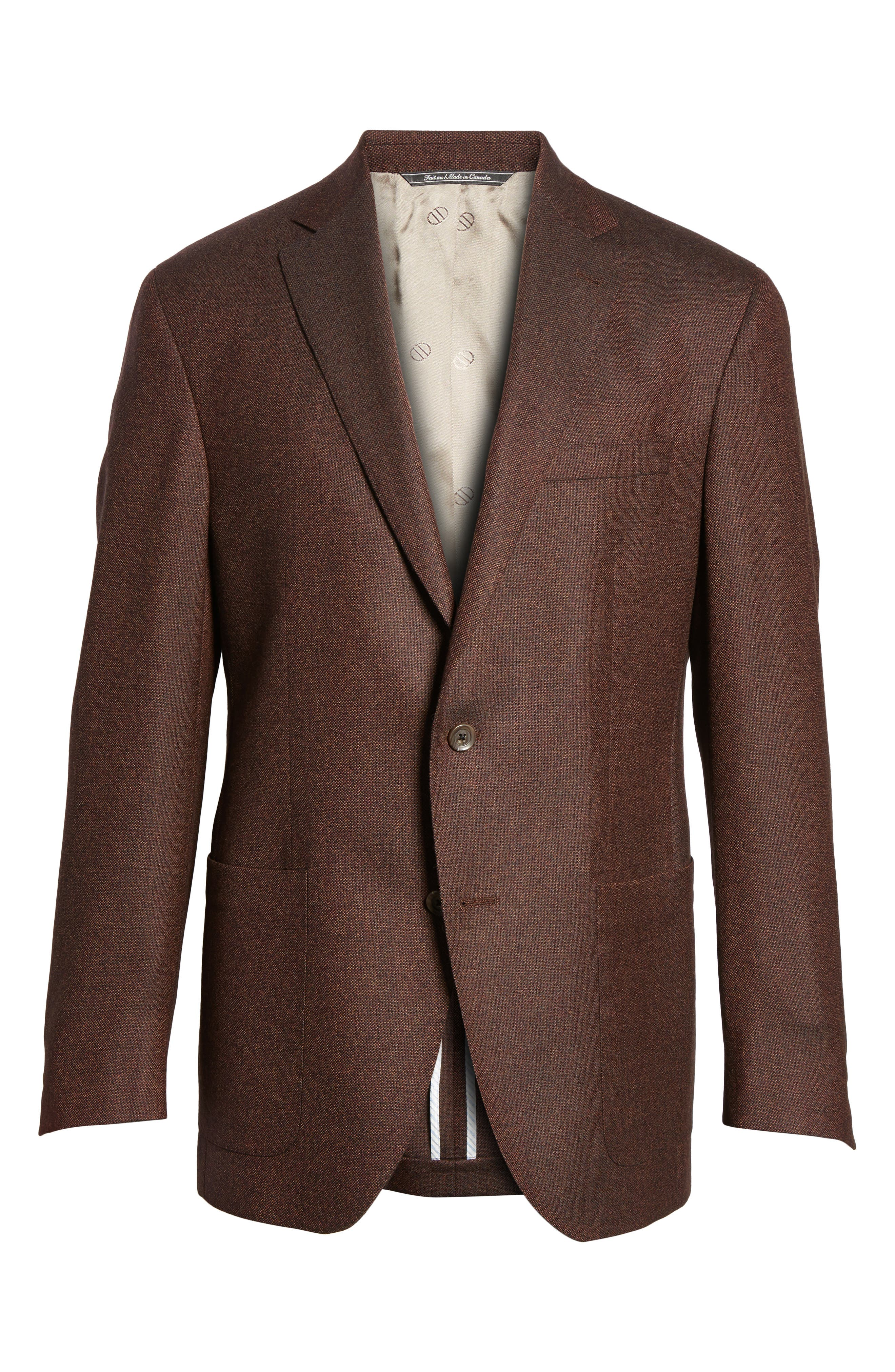 Alternate Image 5  - David Donahue Aiden Classic Fit Wool Sport Coat