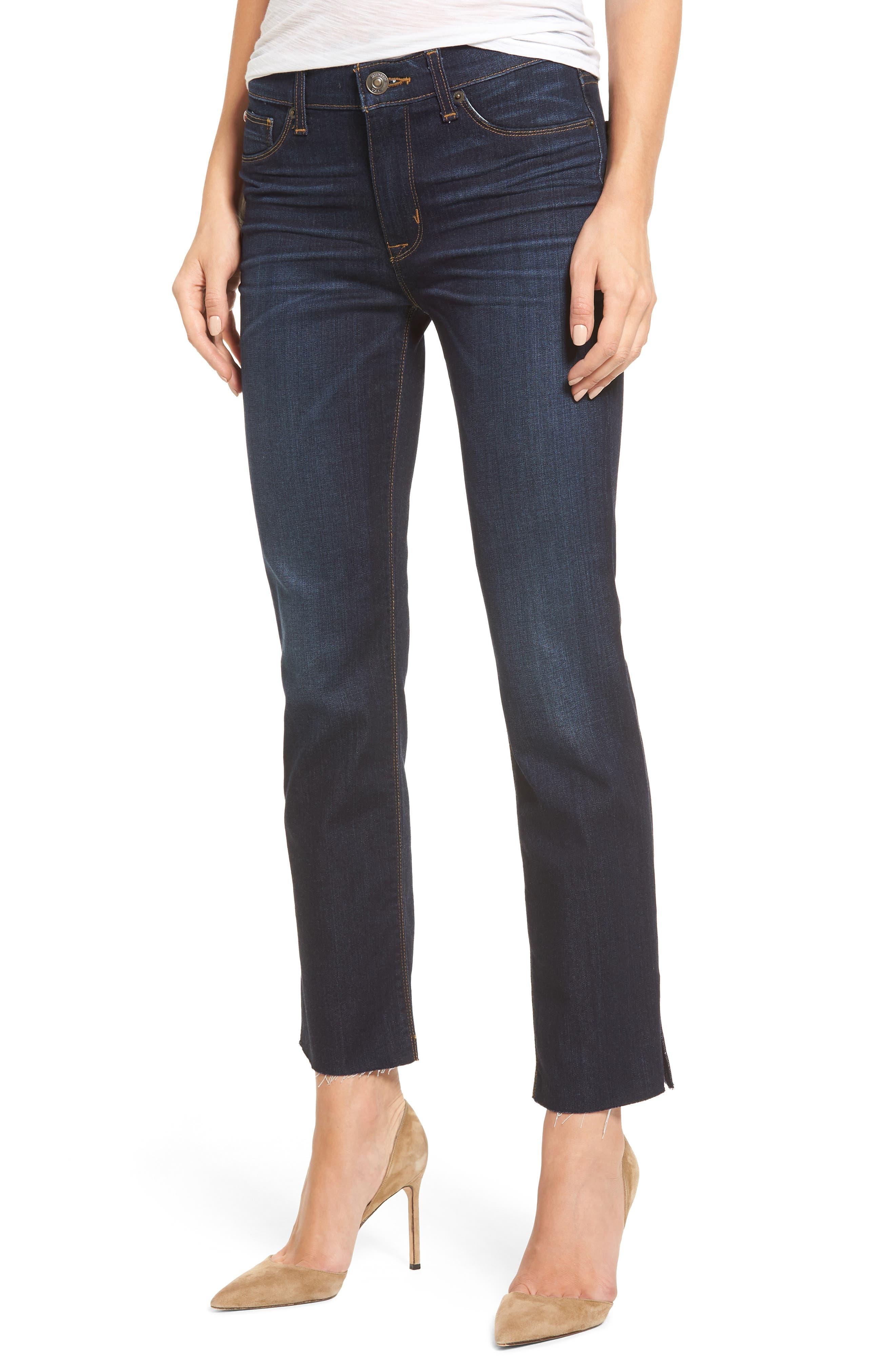 Tilda Slit Ankle Skinny Jeans,                         Main,                         color, Electrify
