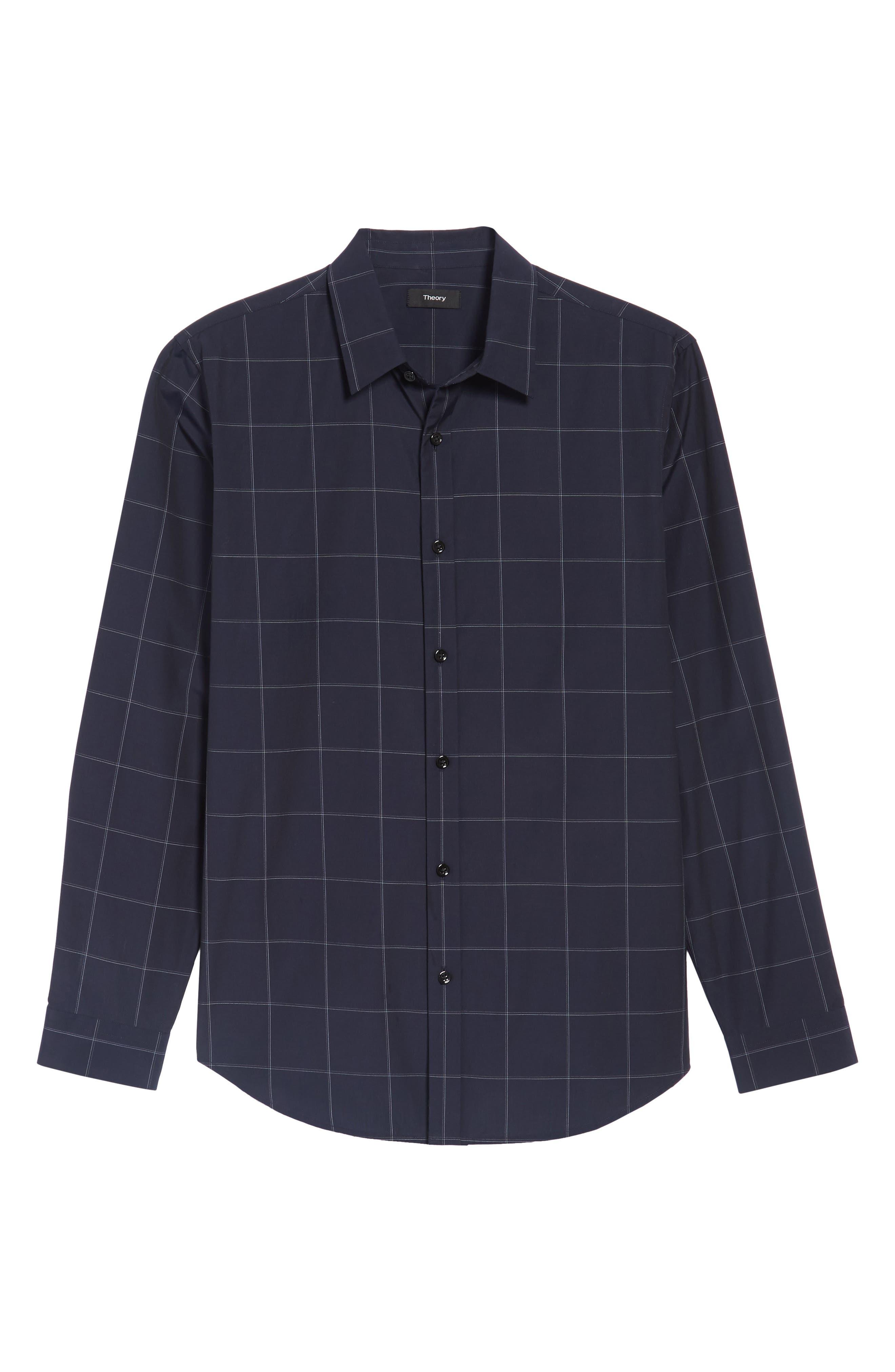 Alternate Image 6  - Theory Grid Woven Sport Shirt