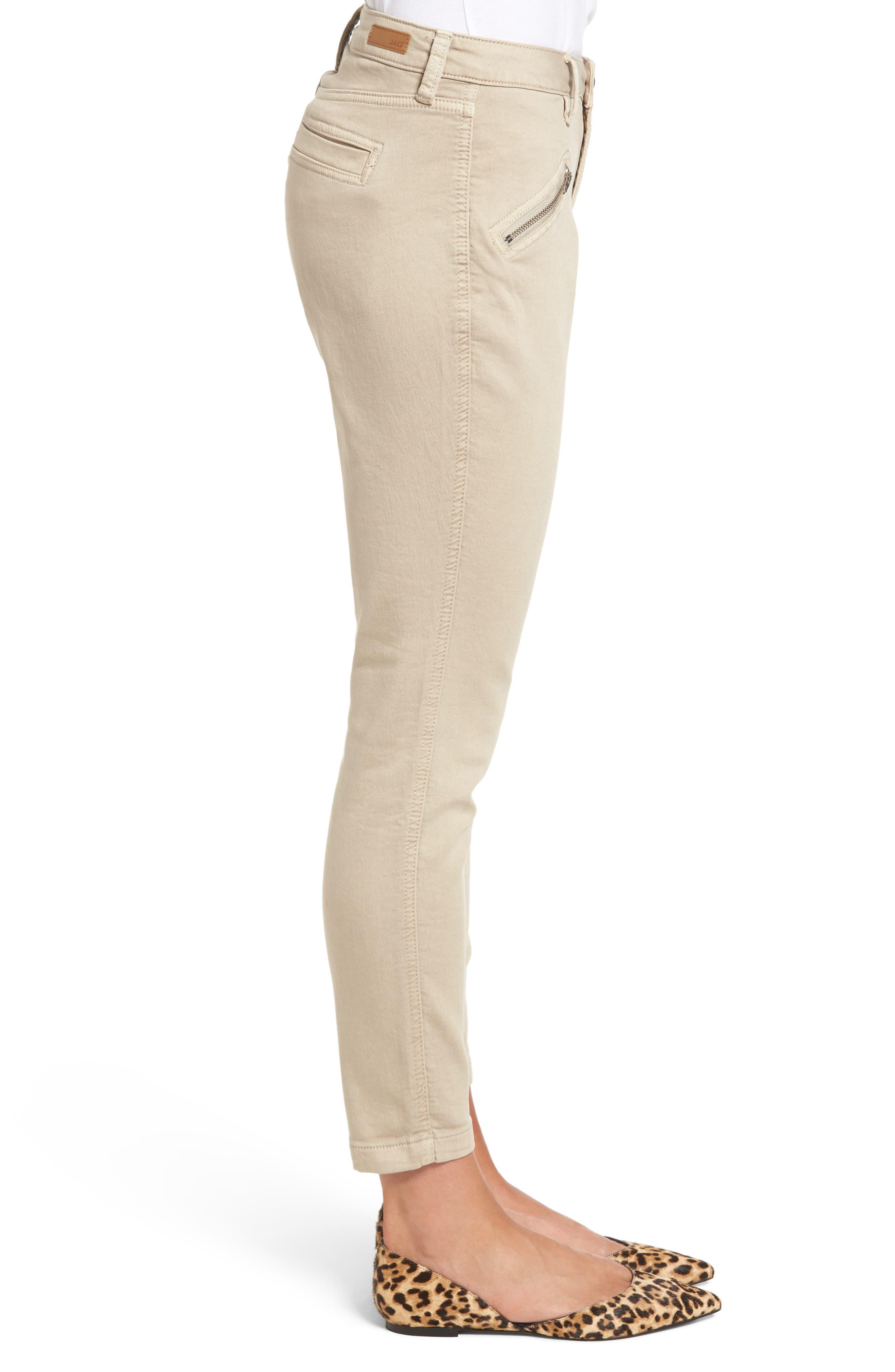 Ryan Knit Skinny Jeans,                             Alternate thumbnail 3, color,                             Birchwood