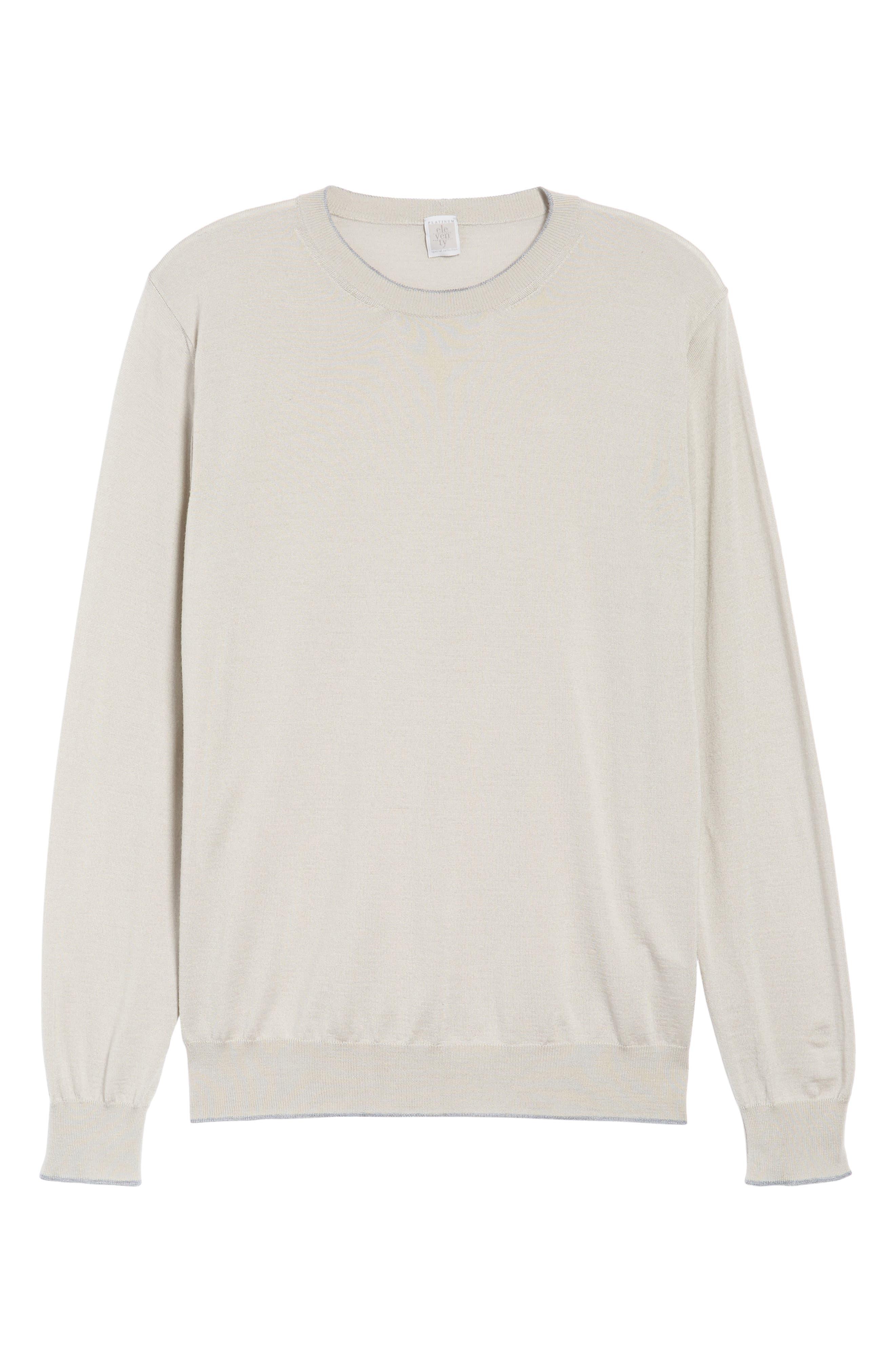 Alternate Image 6  - Eleventy Merino Wool & Silk Tipped Sweater