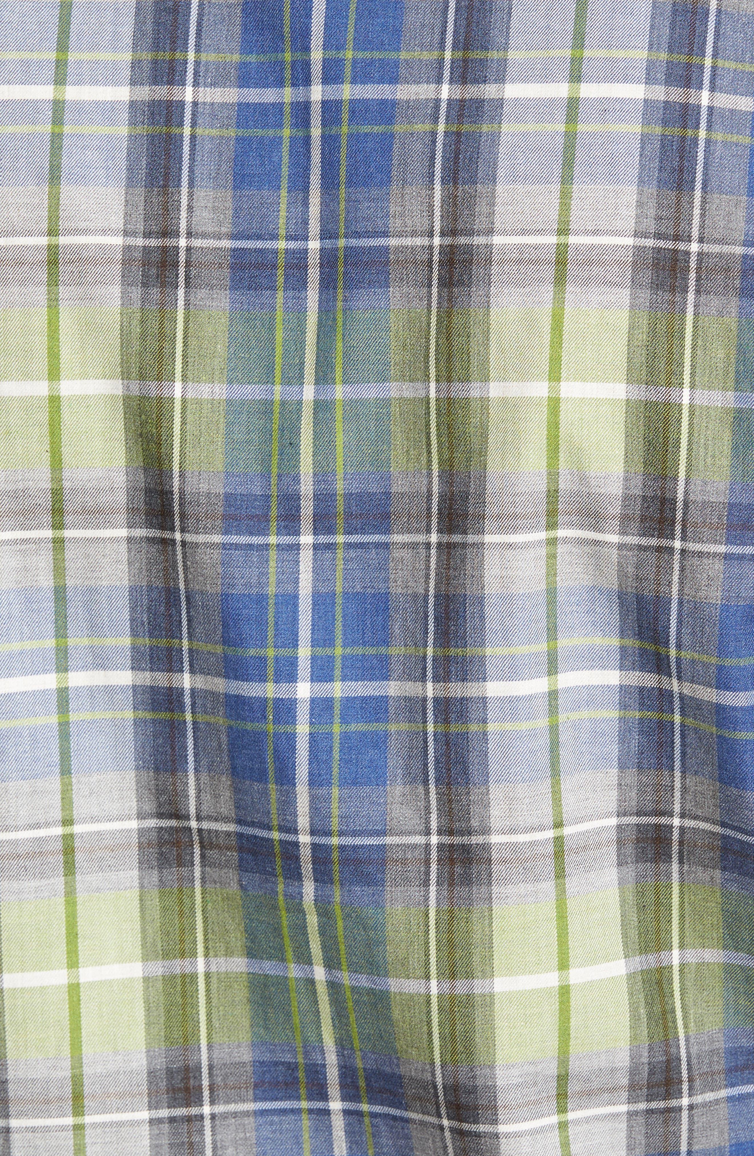 Alternate Image 5  - Thomas Dean Regular Fit Plaid Sport Shirt