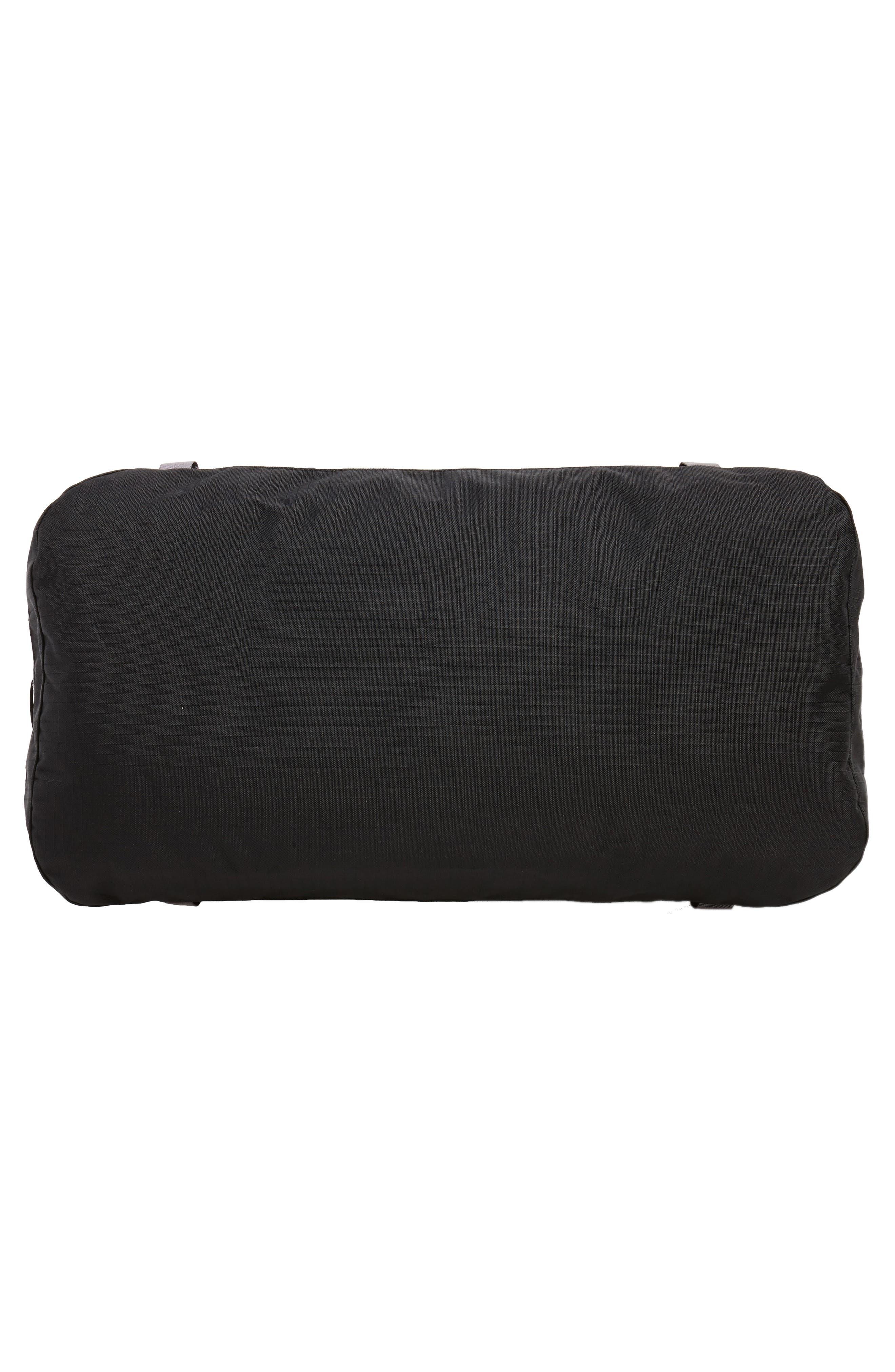 Black Hole Water Repellent Duffel Bag,                             Alternate thumbnail 6, color,                             Black