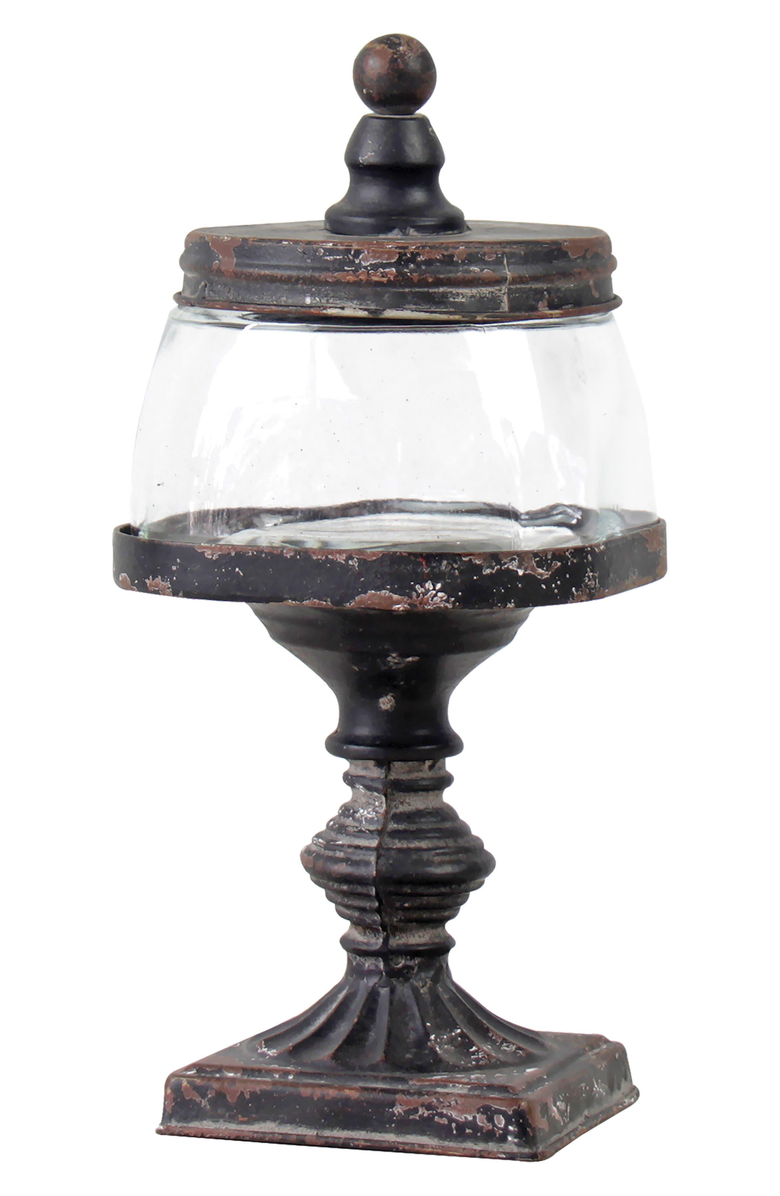 Finial Jar,                         Main,                         color, Metal/ Glass