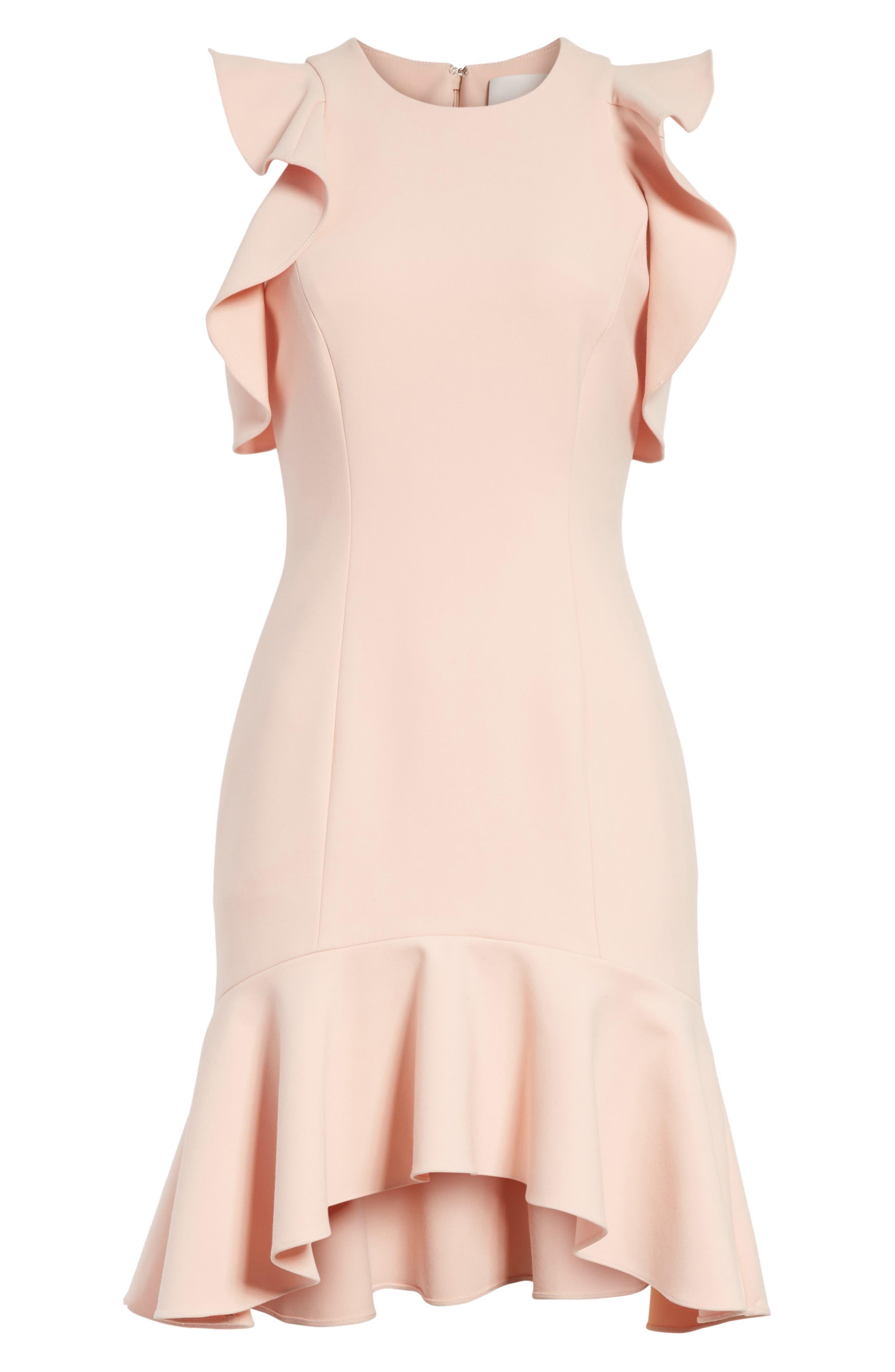 Alternate Image 6  - Cinq à Sept Micah Ruffle Cold Shoulder Dress