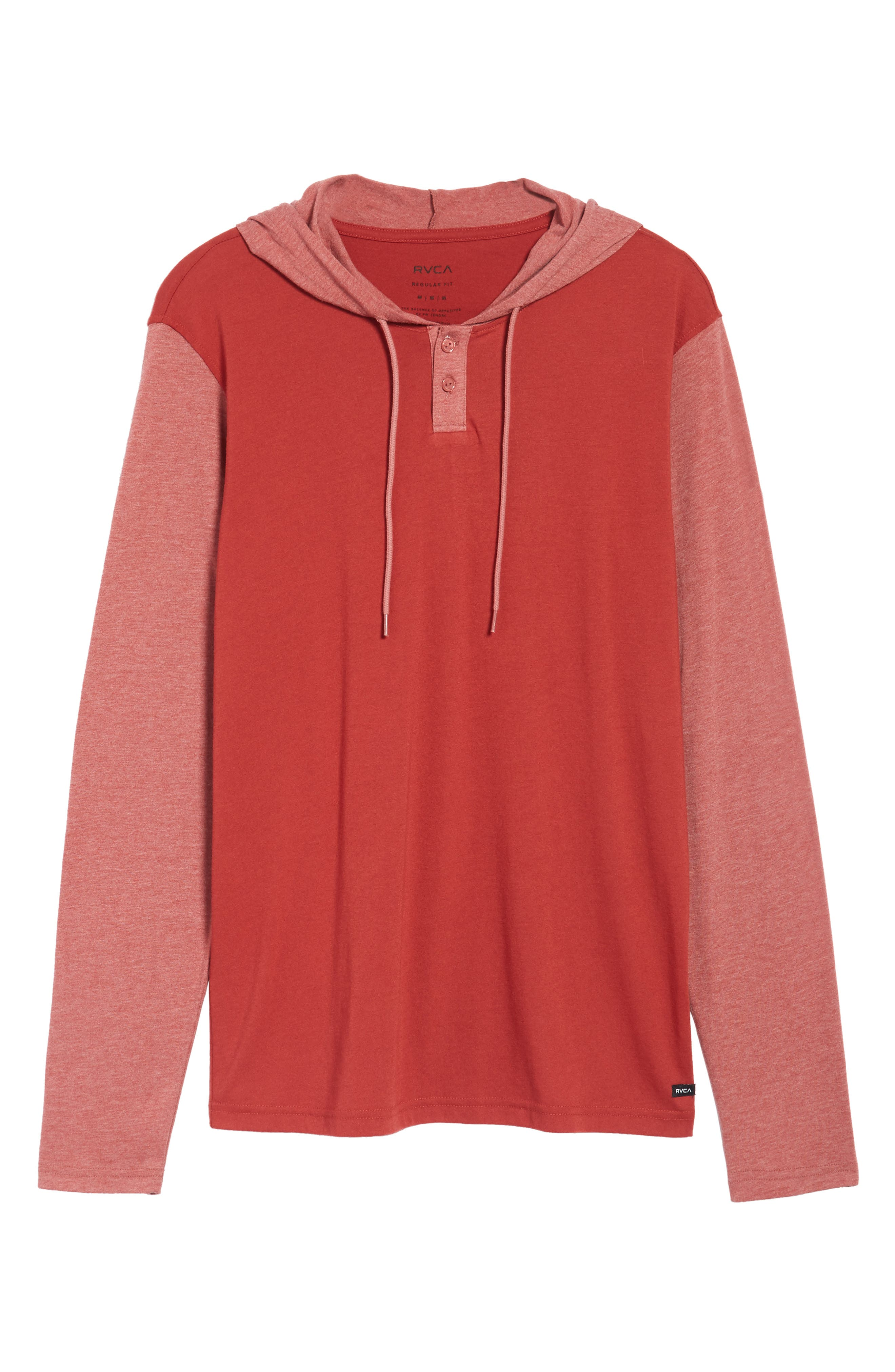 Pick Up Hooded Henley Sweatshirt,                             Alternate thumbnail 6, color,                             Rosewood