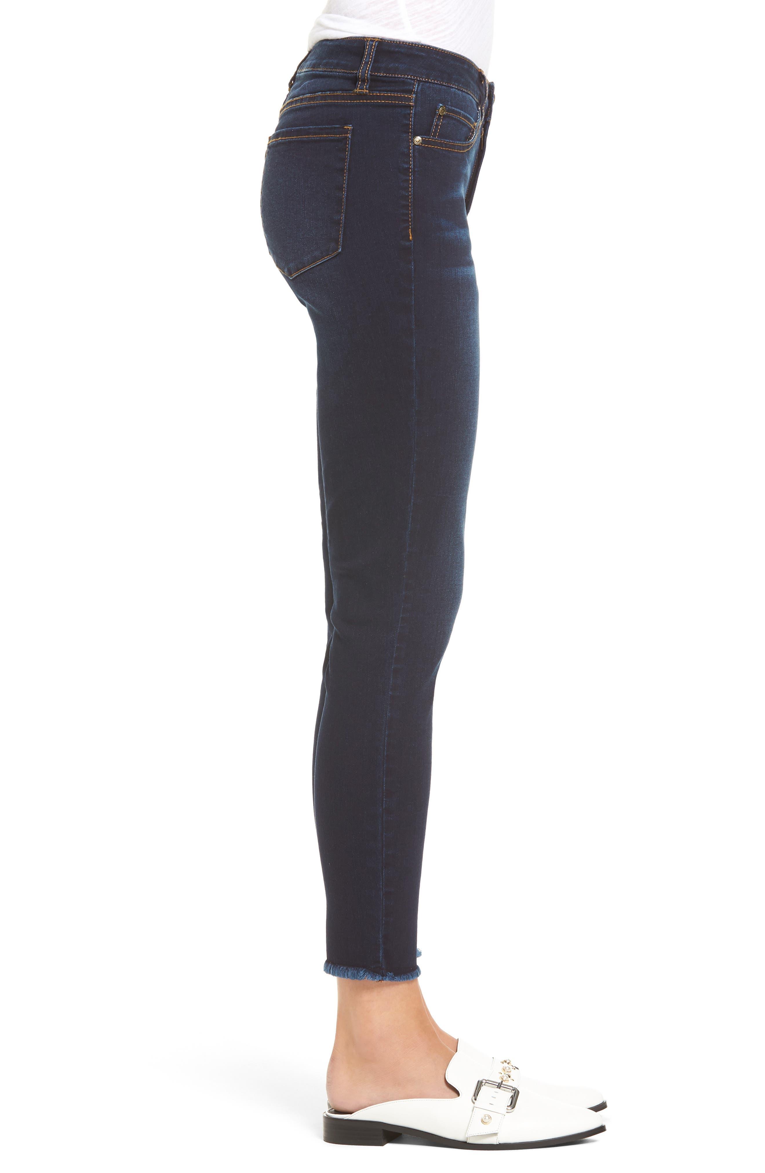Ankle Skinny Jeans,                             Alternate thumbnail 3, color,                             Dark Wash