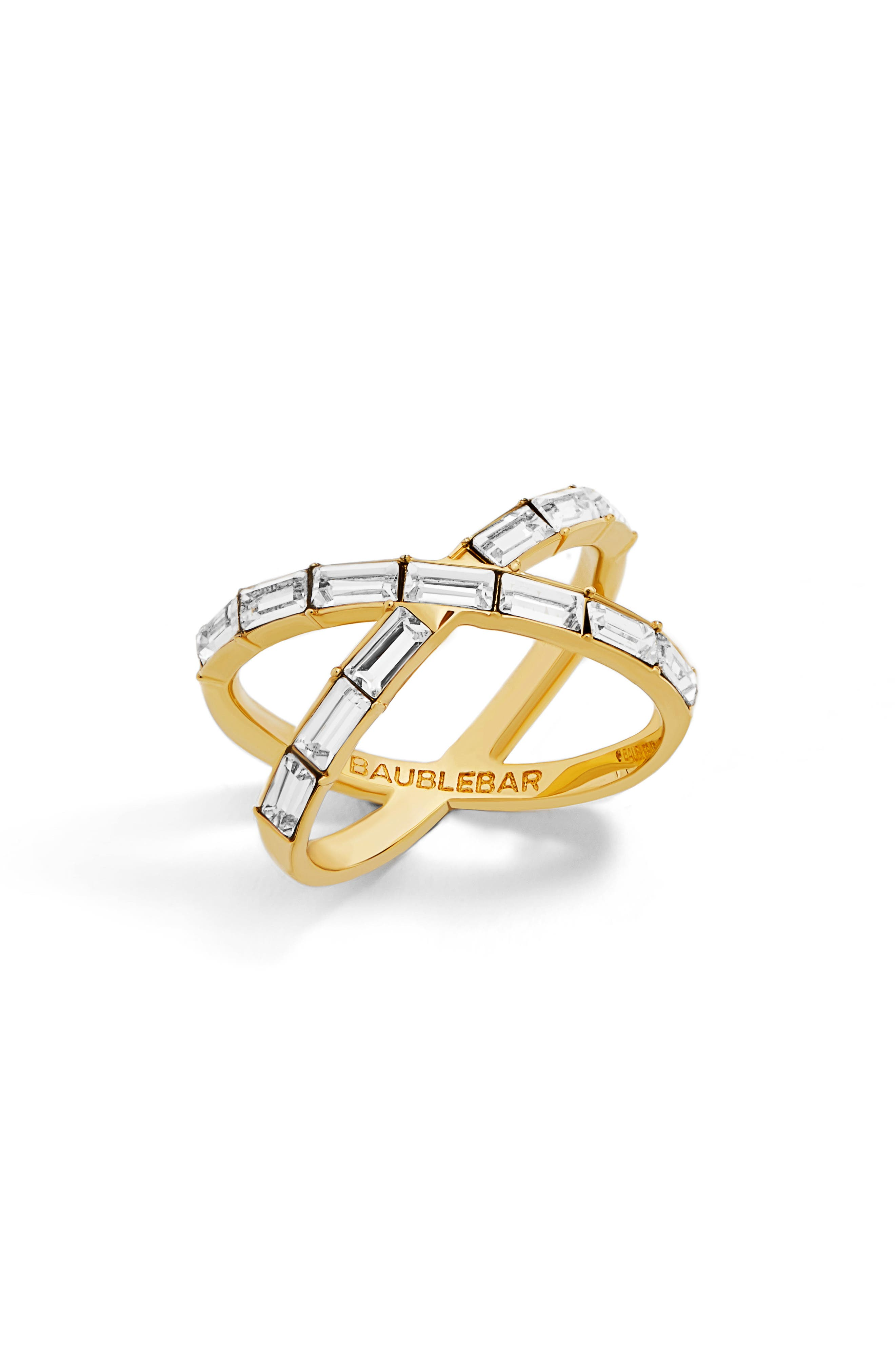 Baguette Ring,                         Main,                         color, Gold
