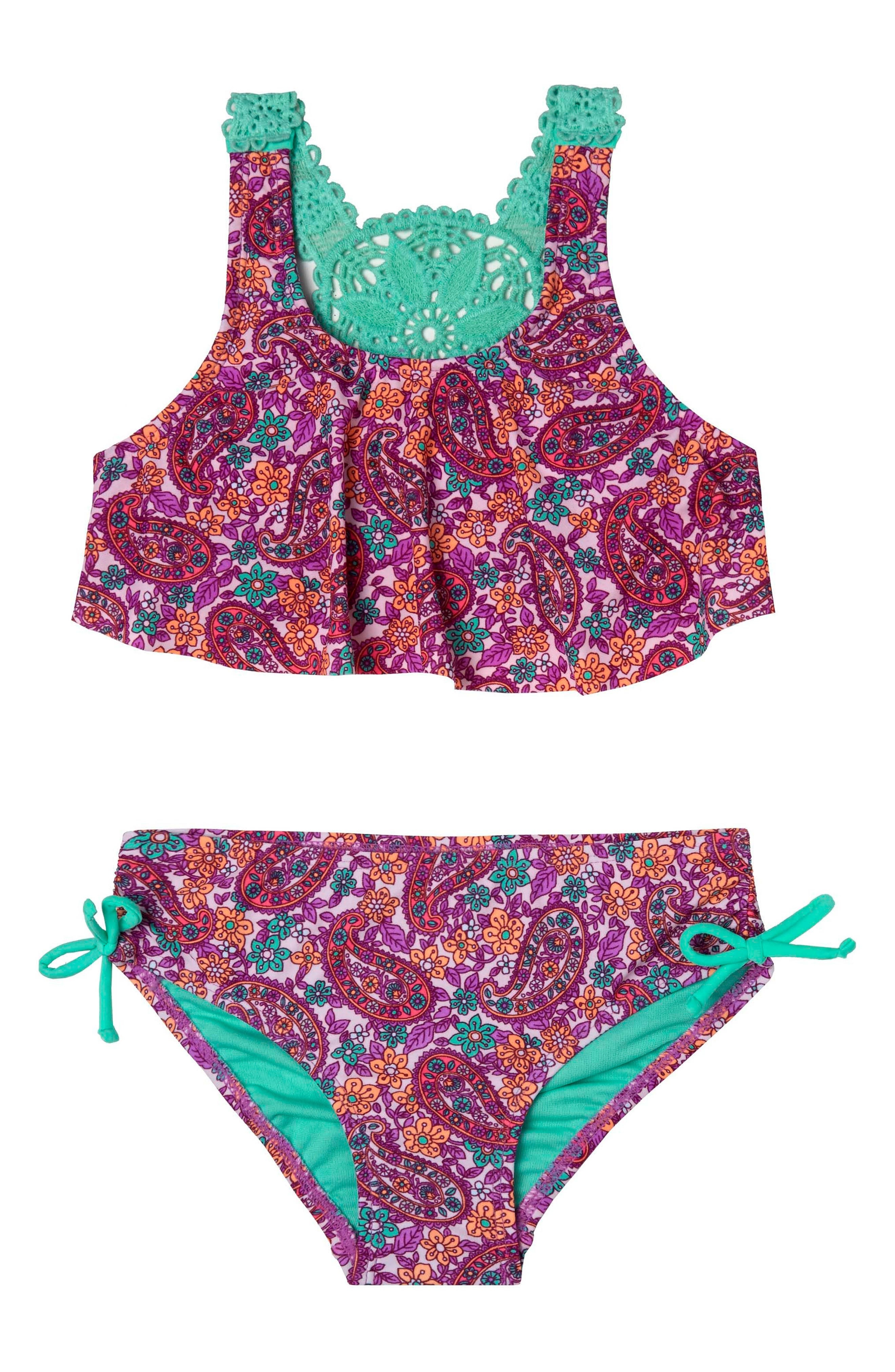 Hula Star Paisley Dream Two-Piece Swimsuit (Toddler Girls & Little Girls)
