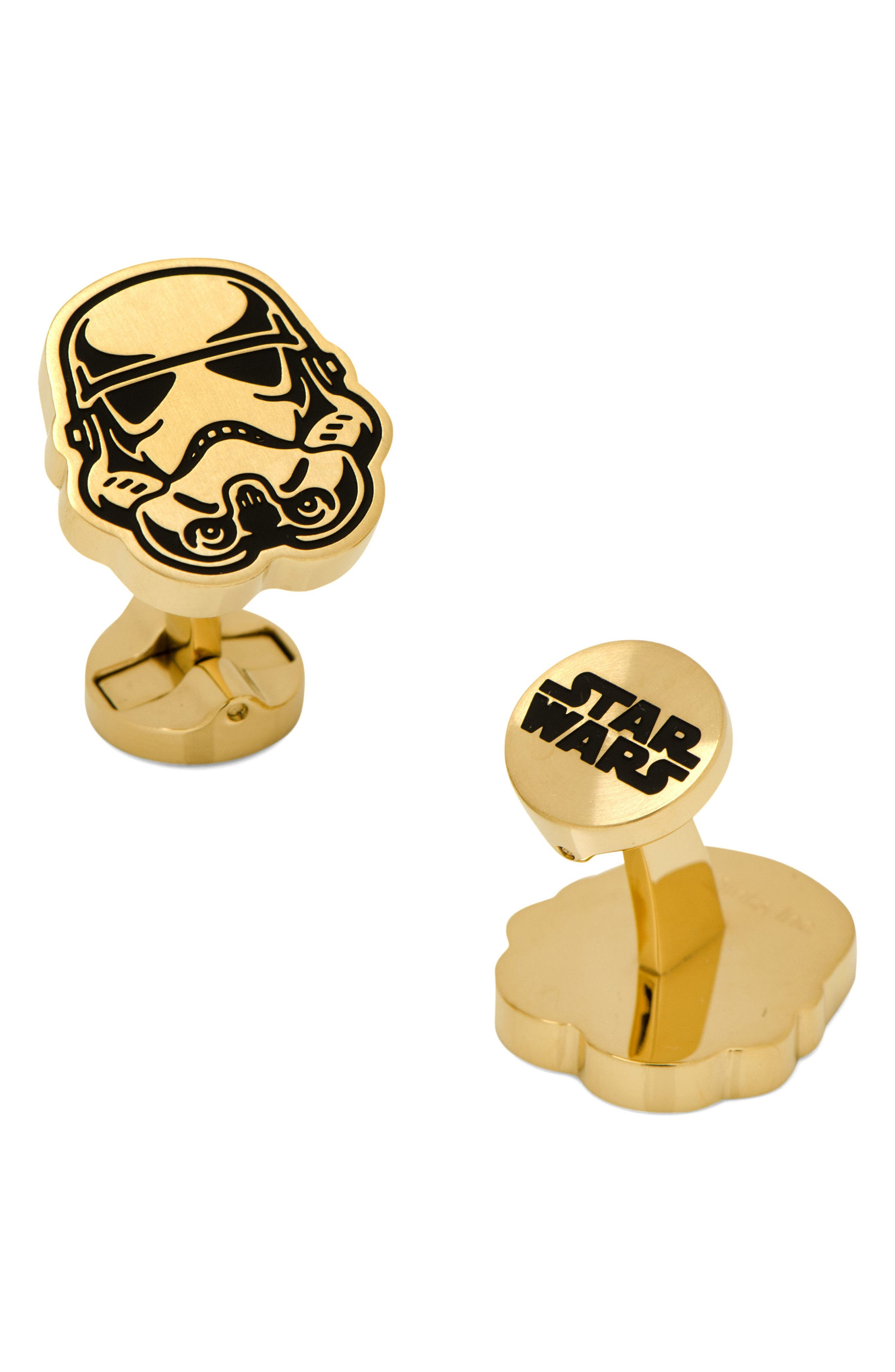"""""""Star Wars""""<sup>®</sup> Storm Trooper Cuff Links,                         Main,                         color, Gold"""
