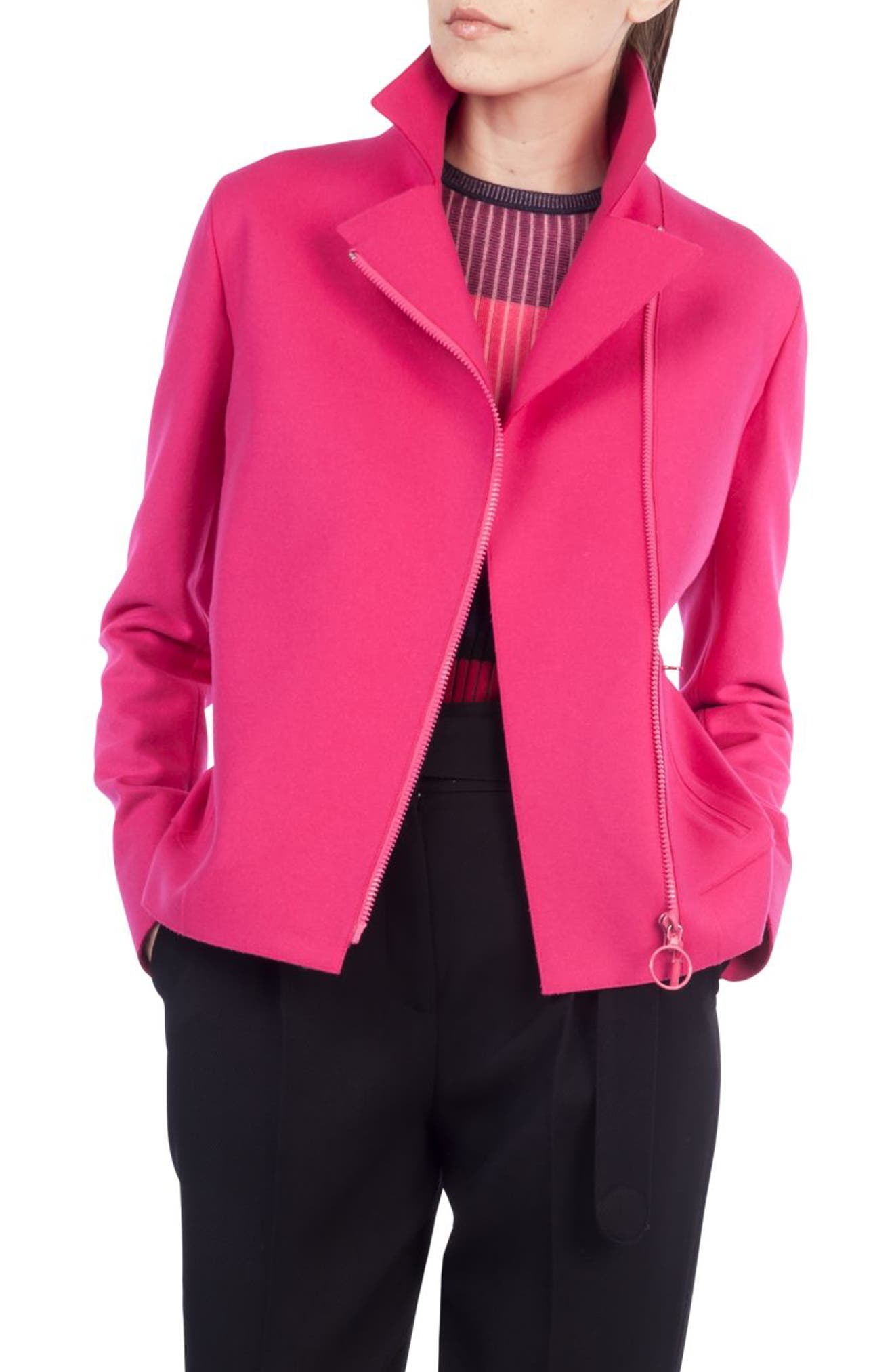 Taglio Vivo Biker Jacket,                             Main thumbnail 1, color,                             Sunset