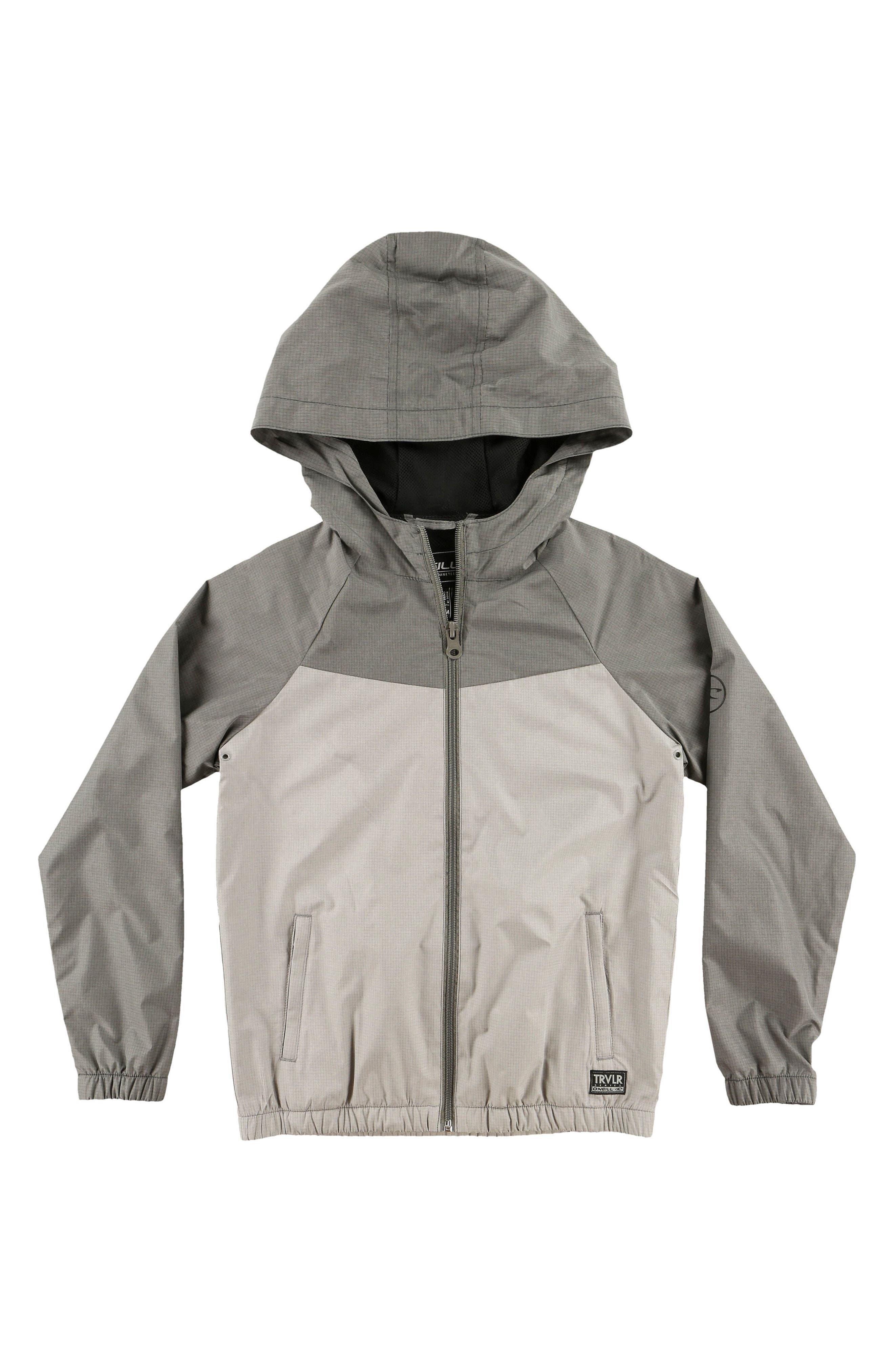 Traveler Packable Windbreaker Jacket,                             Main thumbnail 1, color,                             Grey
