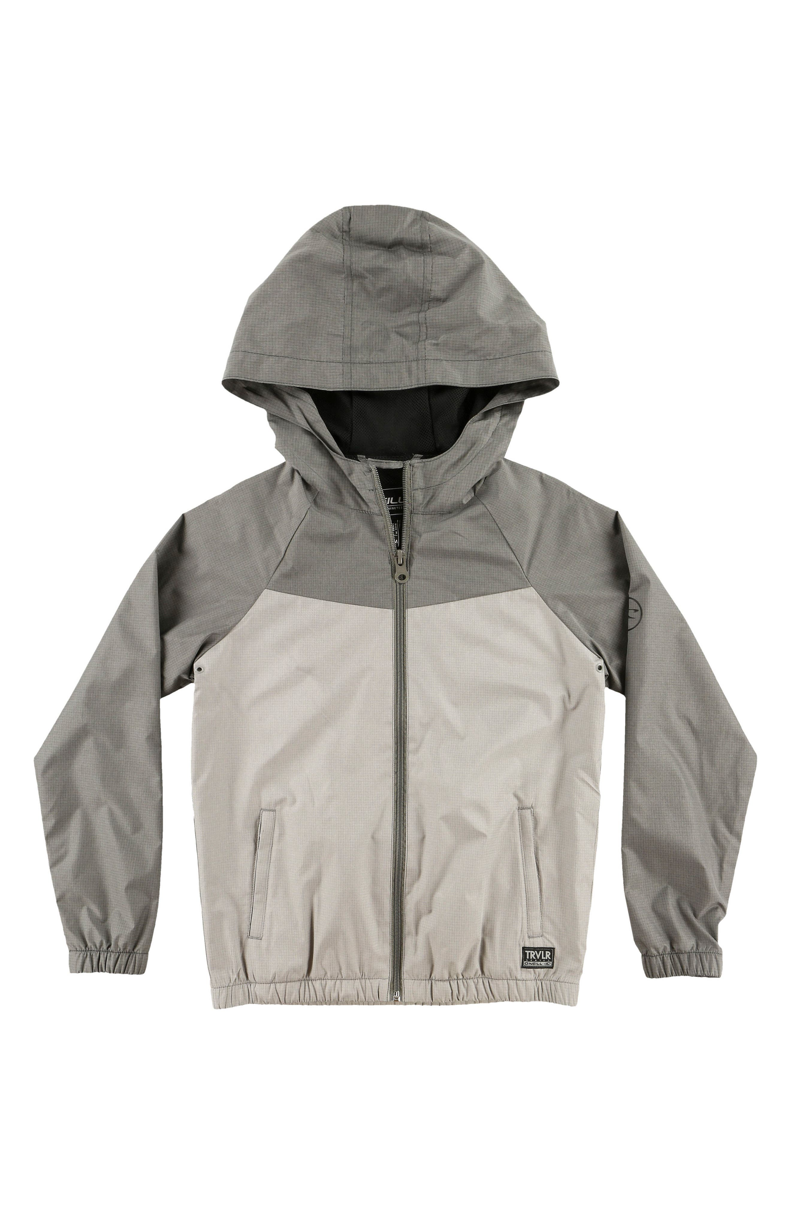 Traveler Packable Windbreaker Jacket,                         Main,                         color, Grey