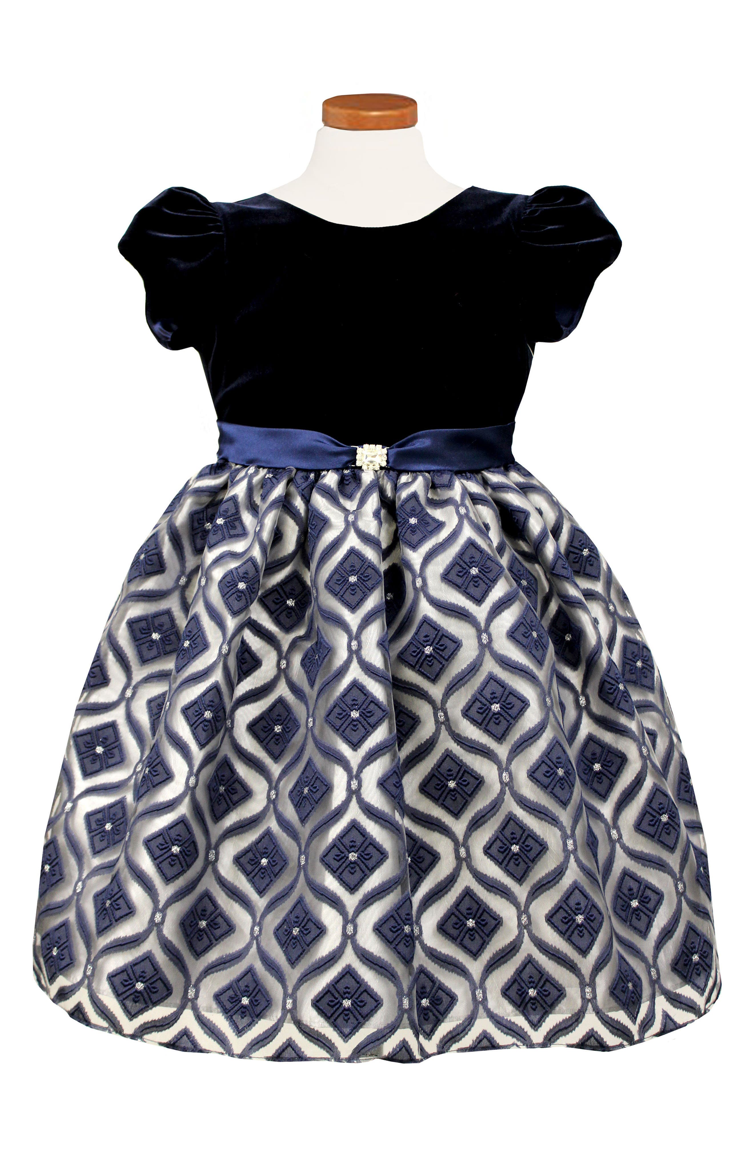 Main Image - Sorbet Diamond Burnout Dress (Toddler Girls & Little Girls)