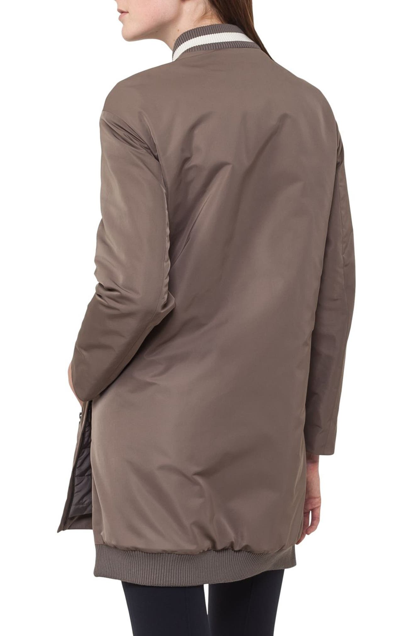 Techno Bomber Coat,                             Alternate thumbnail 2, color,                             Taupe