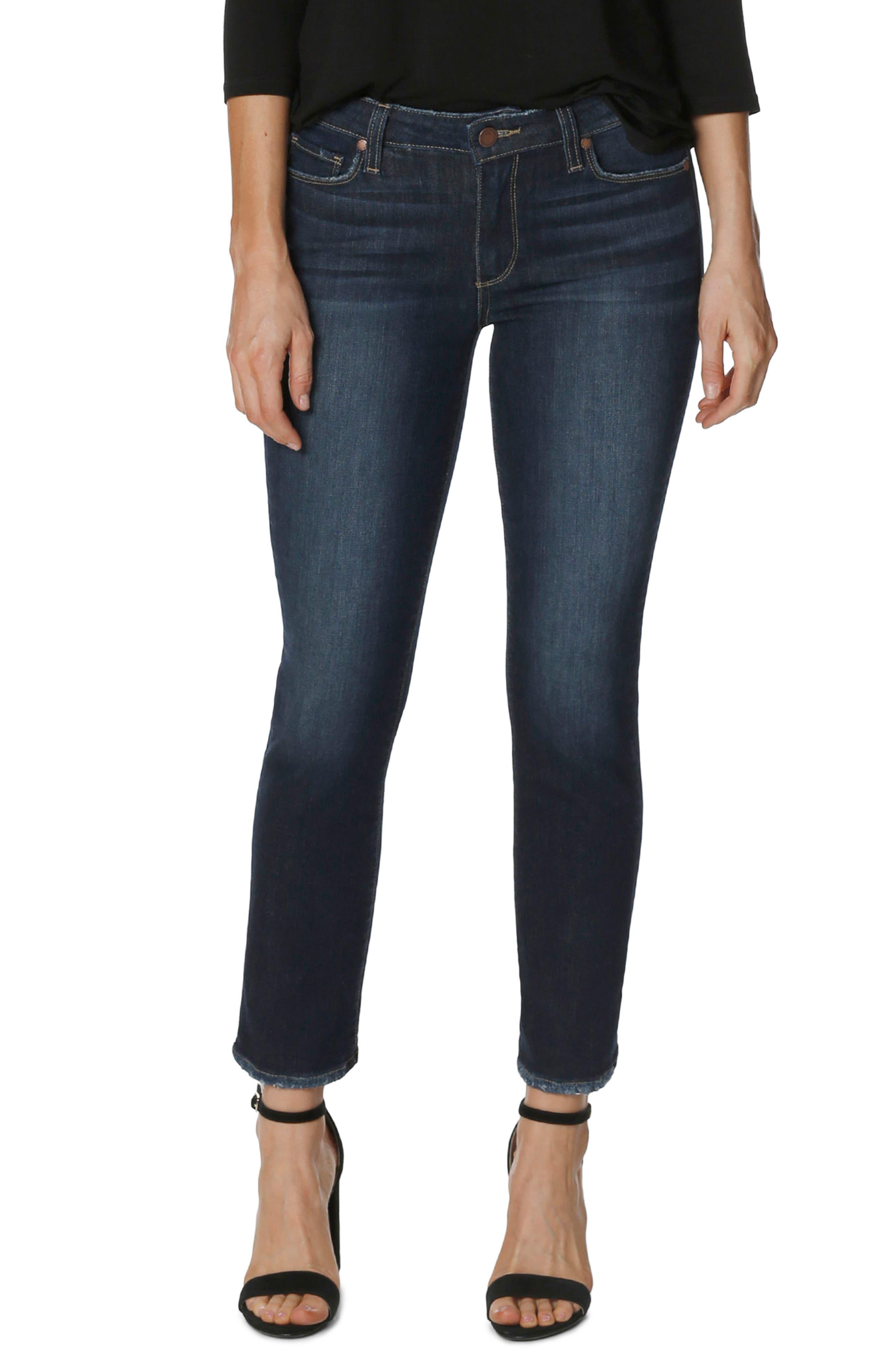 PAIGE Skyline Ankle Peg Skinny Jeans (Henley Distressed)