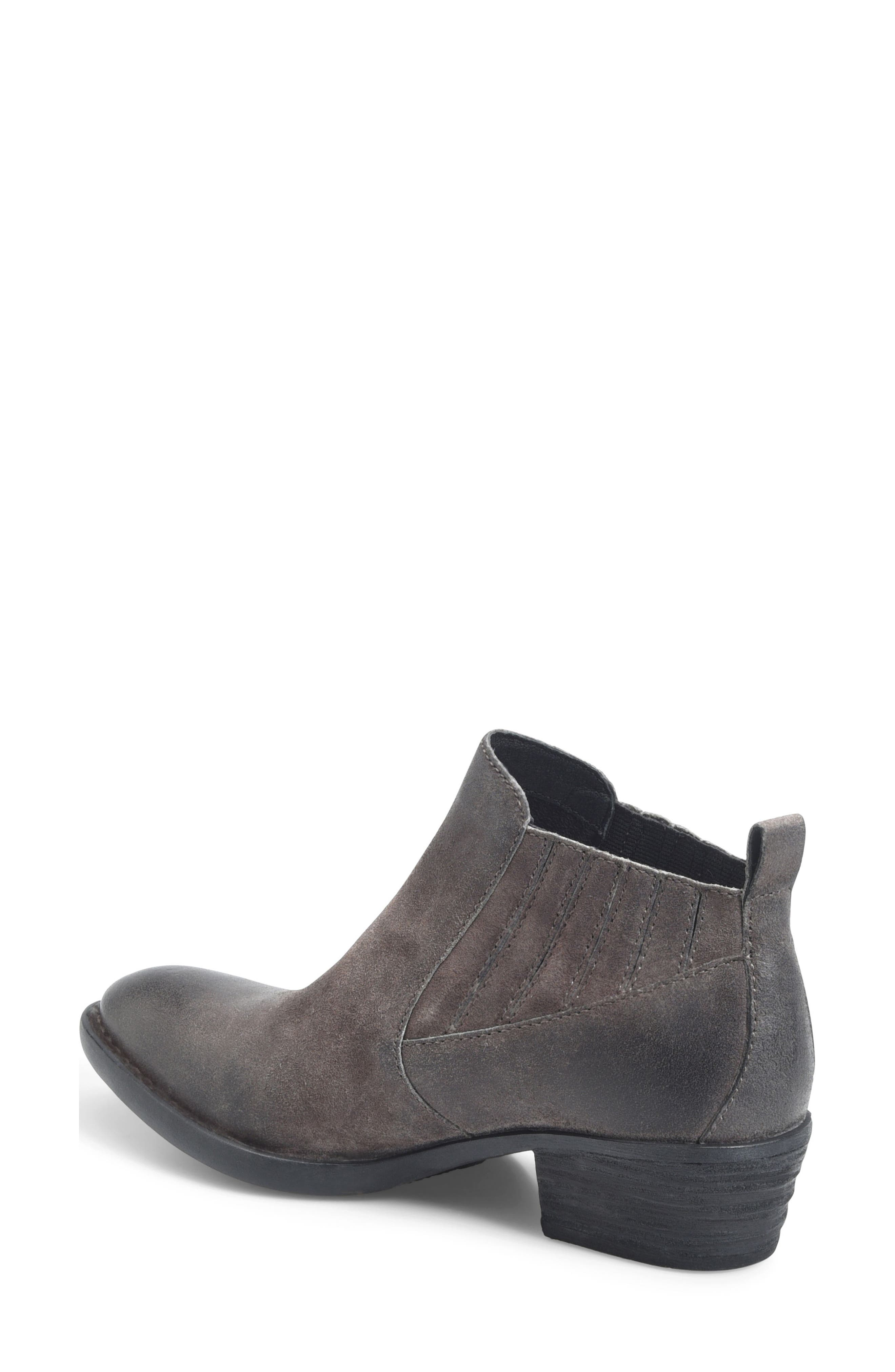 Beebe Bootie,                             Alternate thumbnail 2, color,                             Grey Distressed Leather