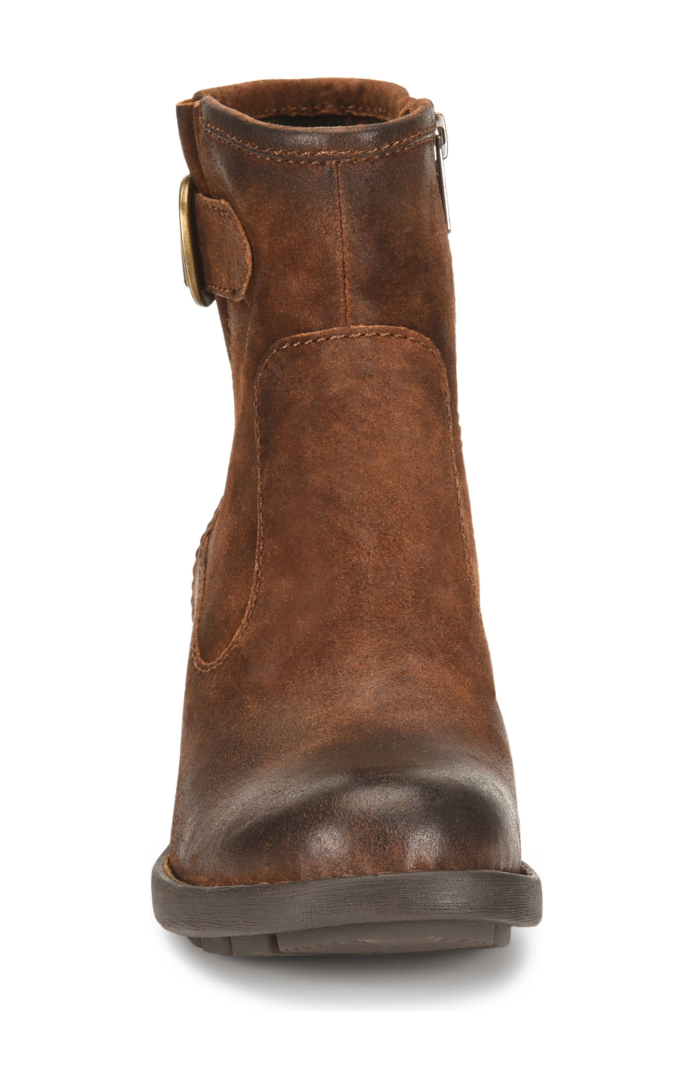 Gunn Engineer Bootie,                             Alternate thumbnail 4, color,                             Rust Distressed Leather
