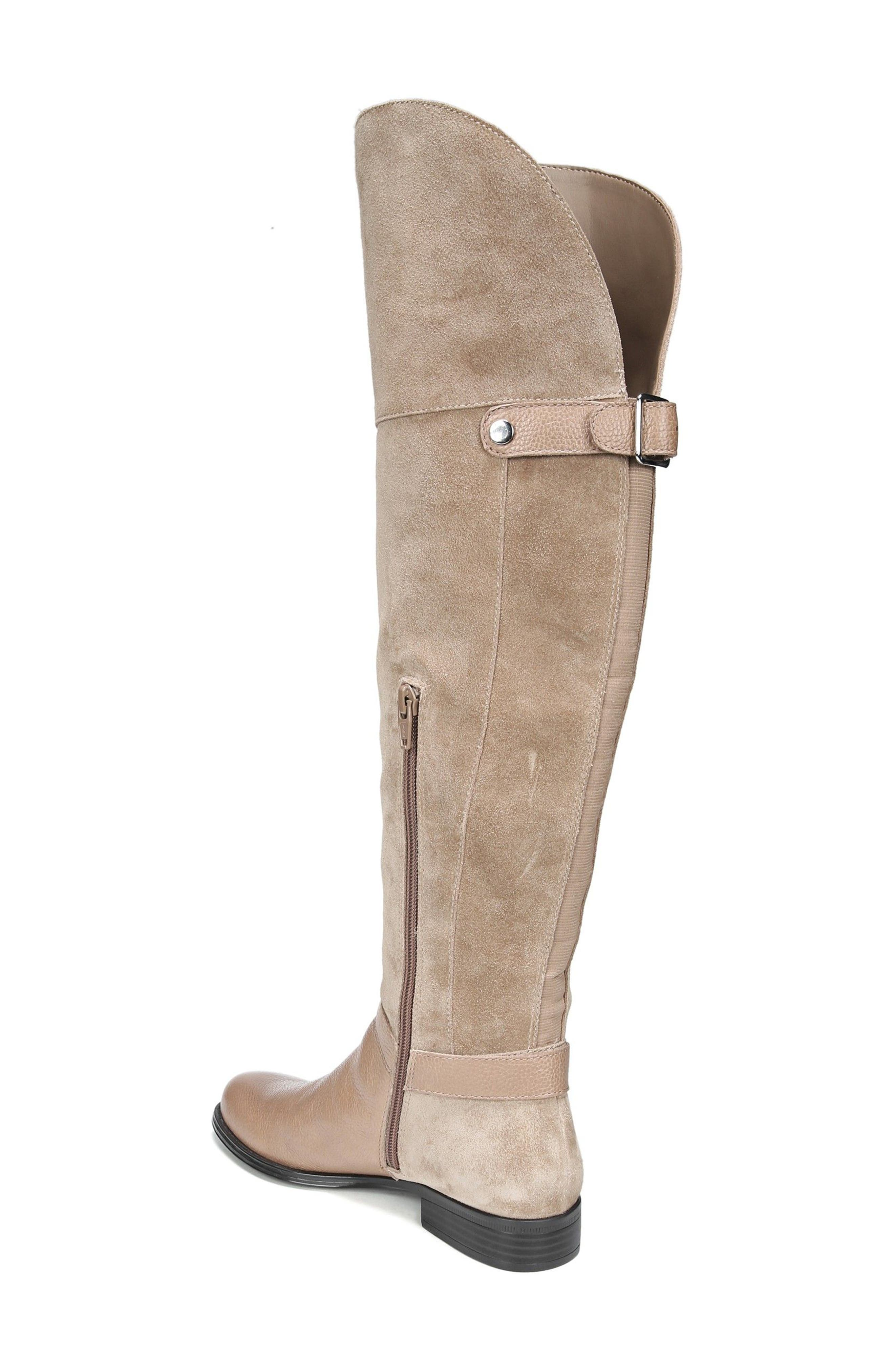 January Over the Knee High Boot,                             Alternate thumbnail 2, color,                             Beige Leather