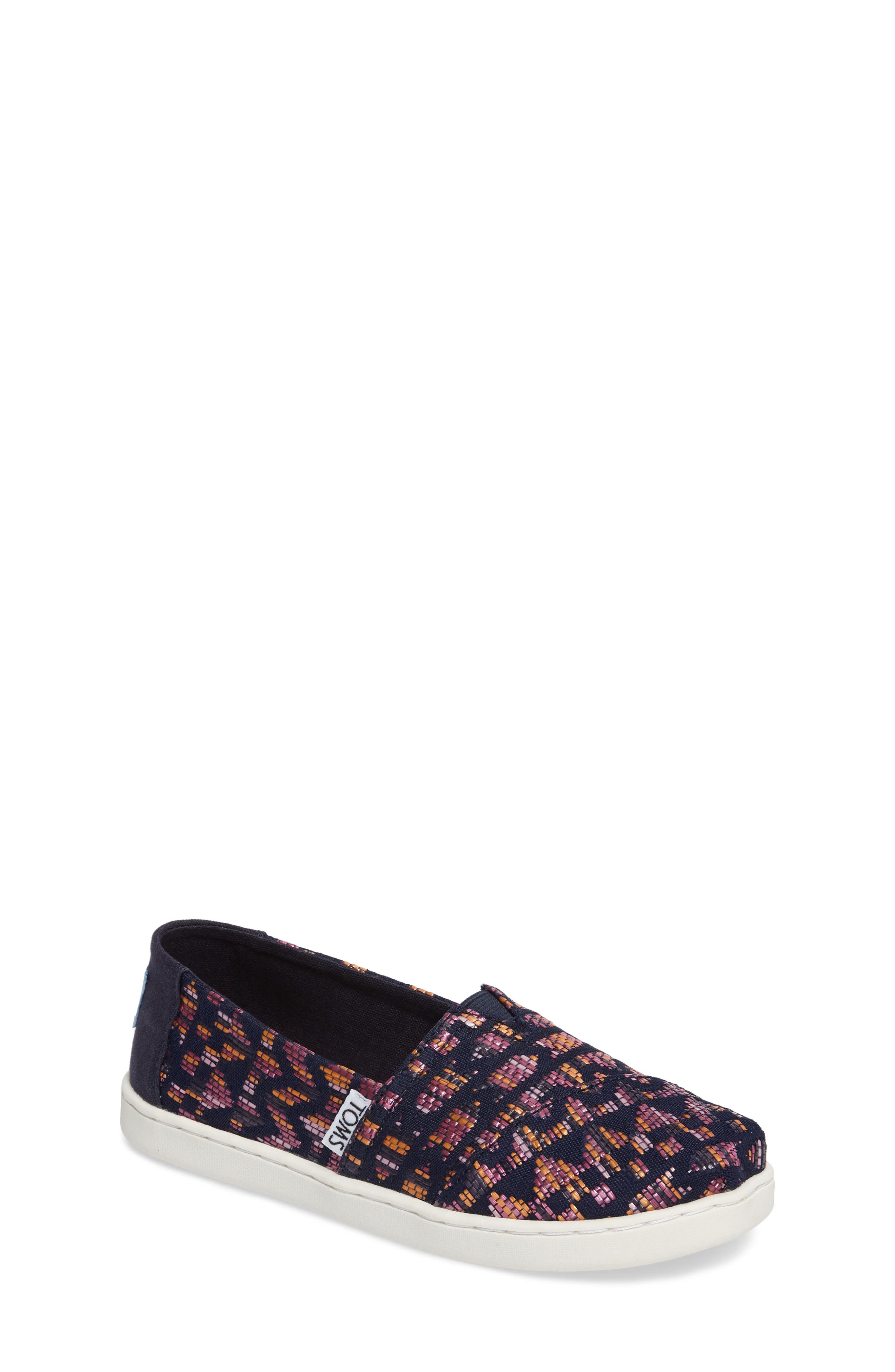 Classic Alpargata Slip-On,                         Main,                         color, Fuchsia Canvas