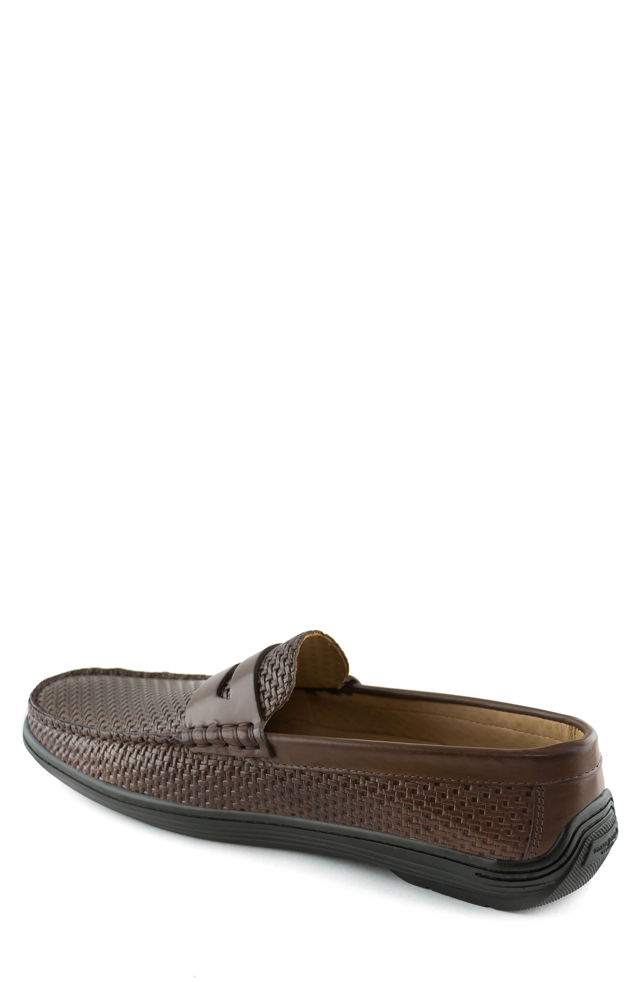 Atlantic Penny Loafer,                             Alternate thumbnail 2, color,                             Brown Leather