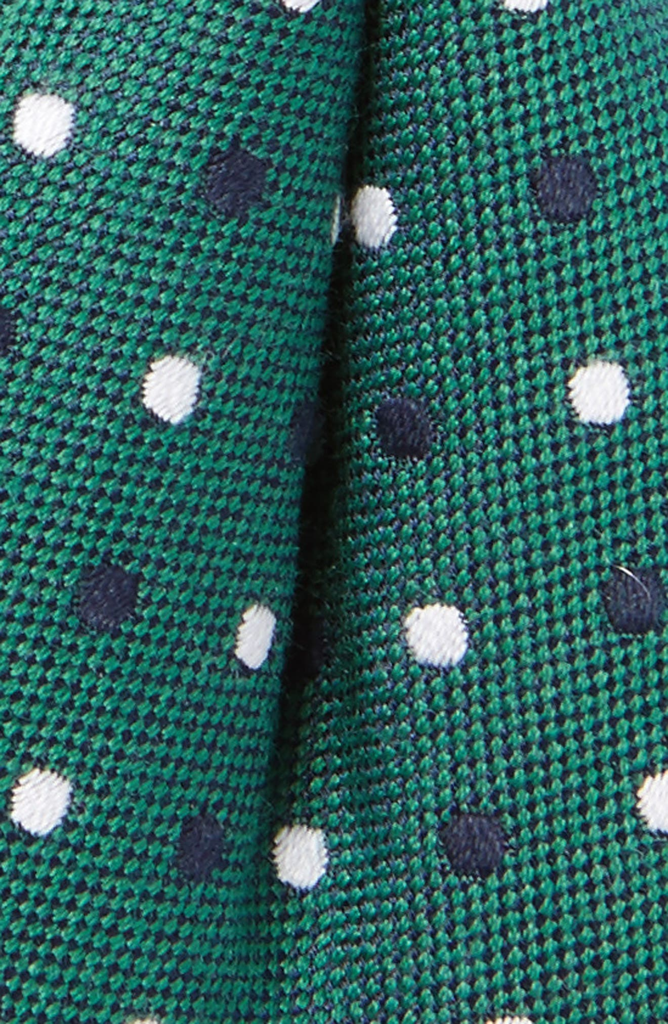 Alternate Image 2  - Nordstrom Dot Cotton & Silk Bow Tie (Big Boys)