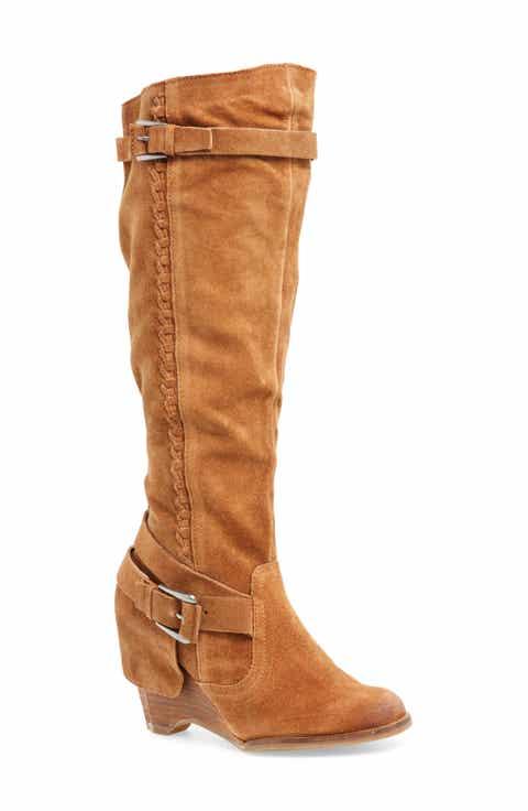 Naugty Monkey Double Up Knee-High Wedge Boot (Women)