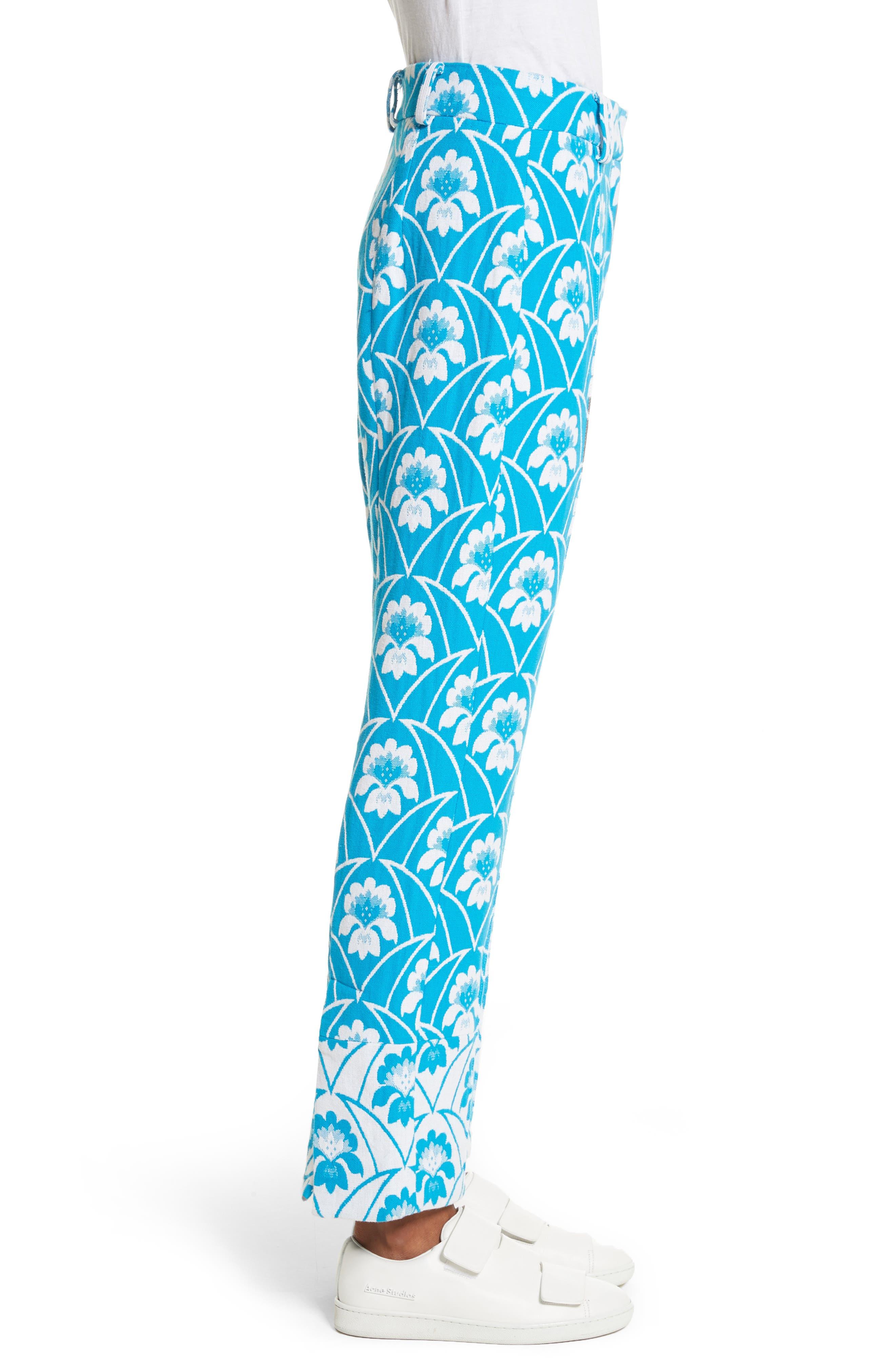 Alternate Image 3  - Richard Malone Floral Slim Leg Trousers