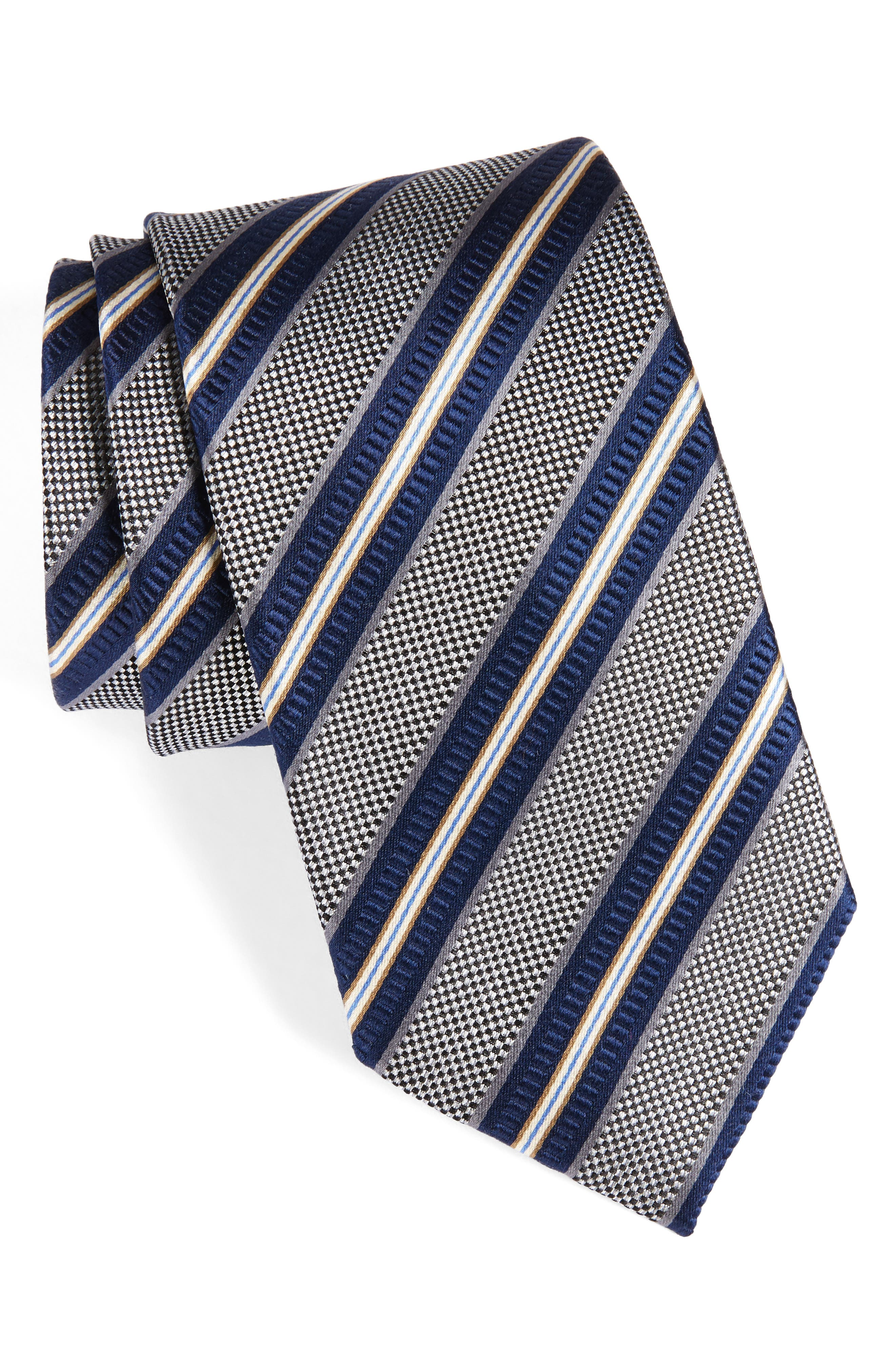 NORDSTROM MENS SHOP Stripe Silk Tie