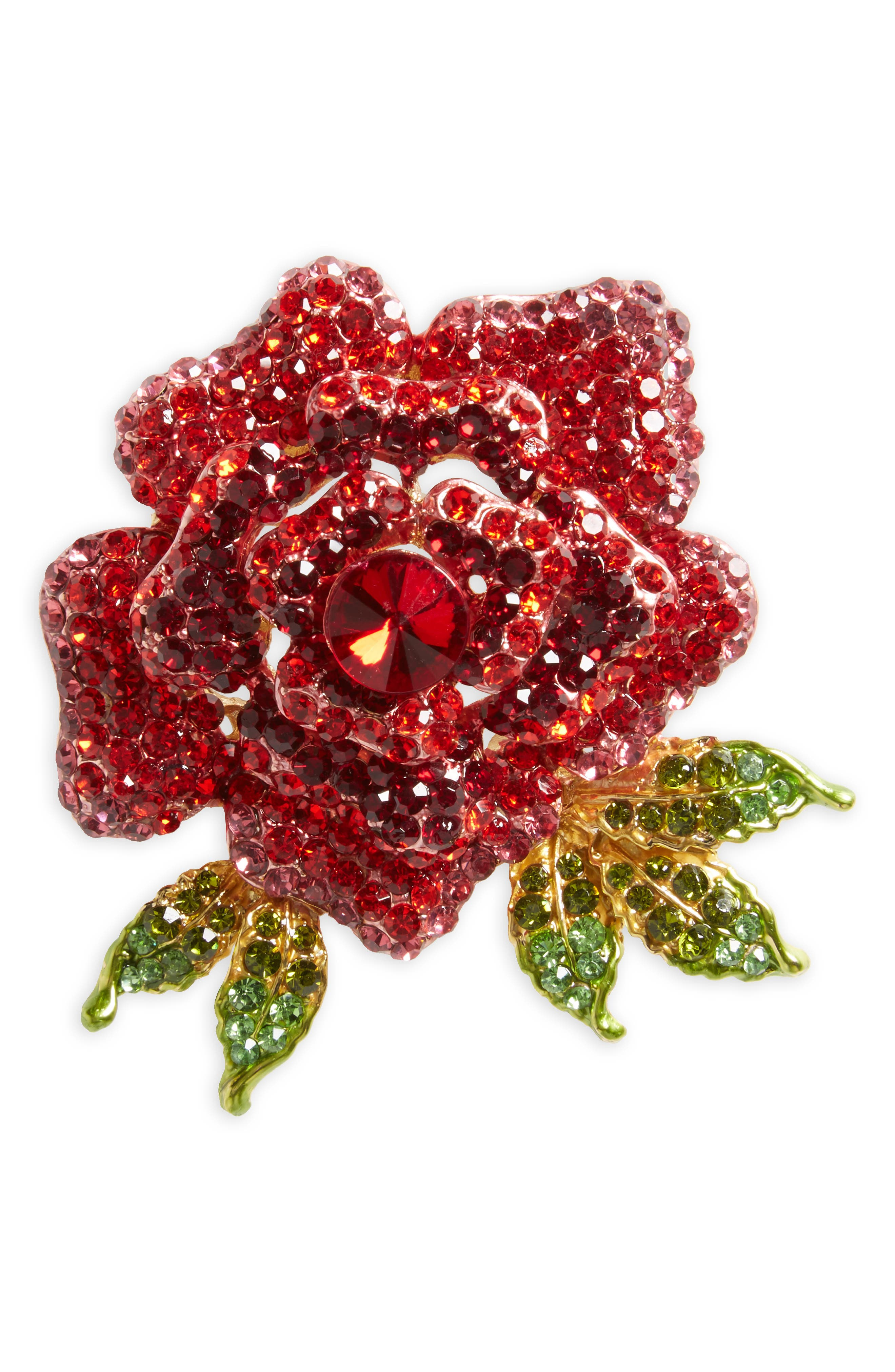 Cara Rose Crystal Pin