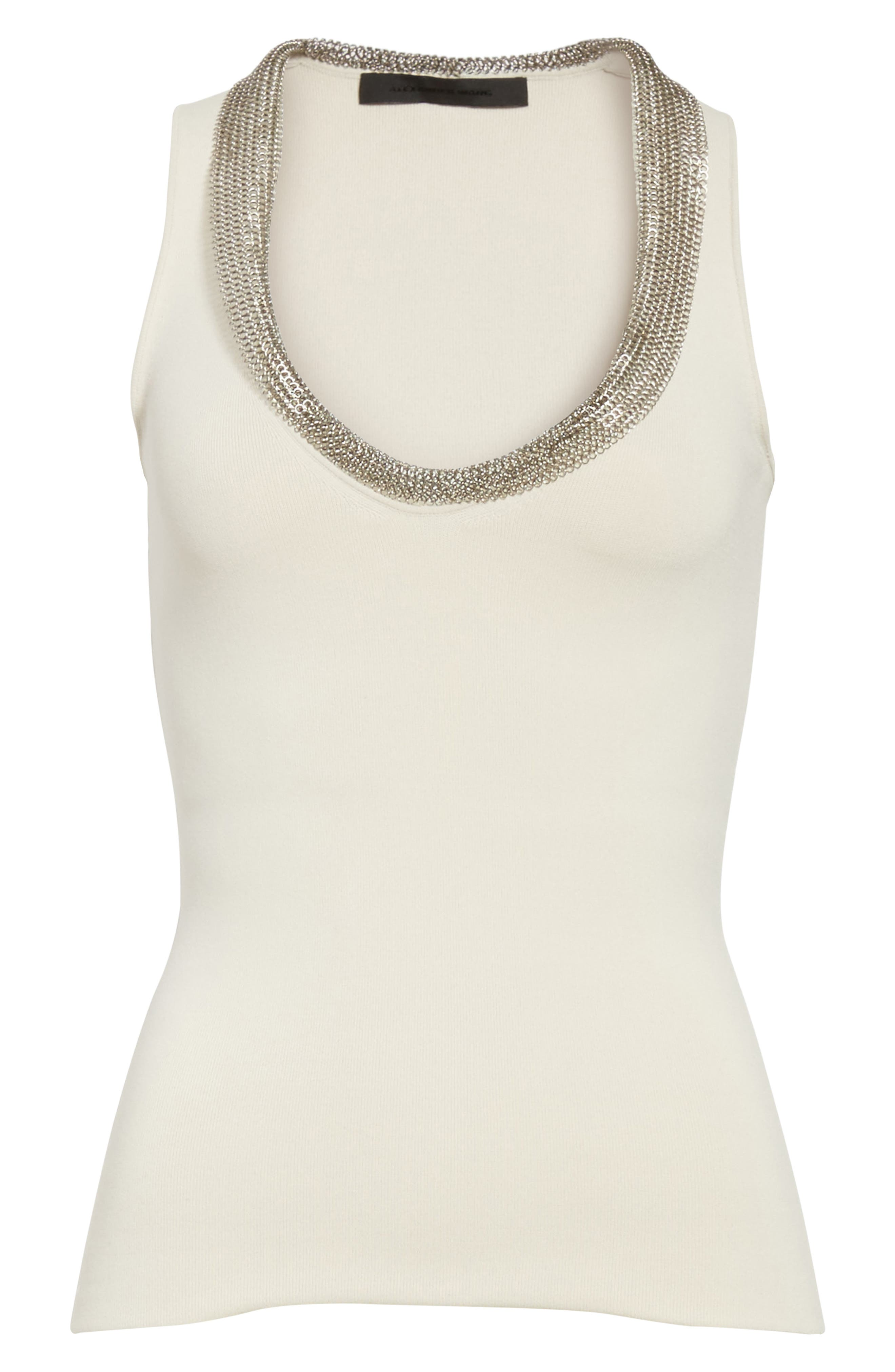 Alternate Image 6  - Alexander Wang Chain Mail Trim Tank