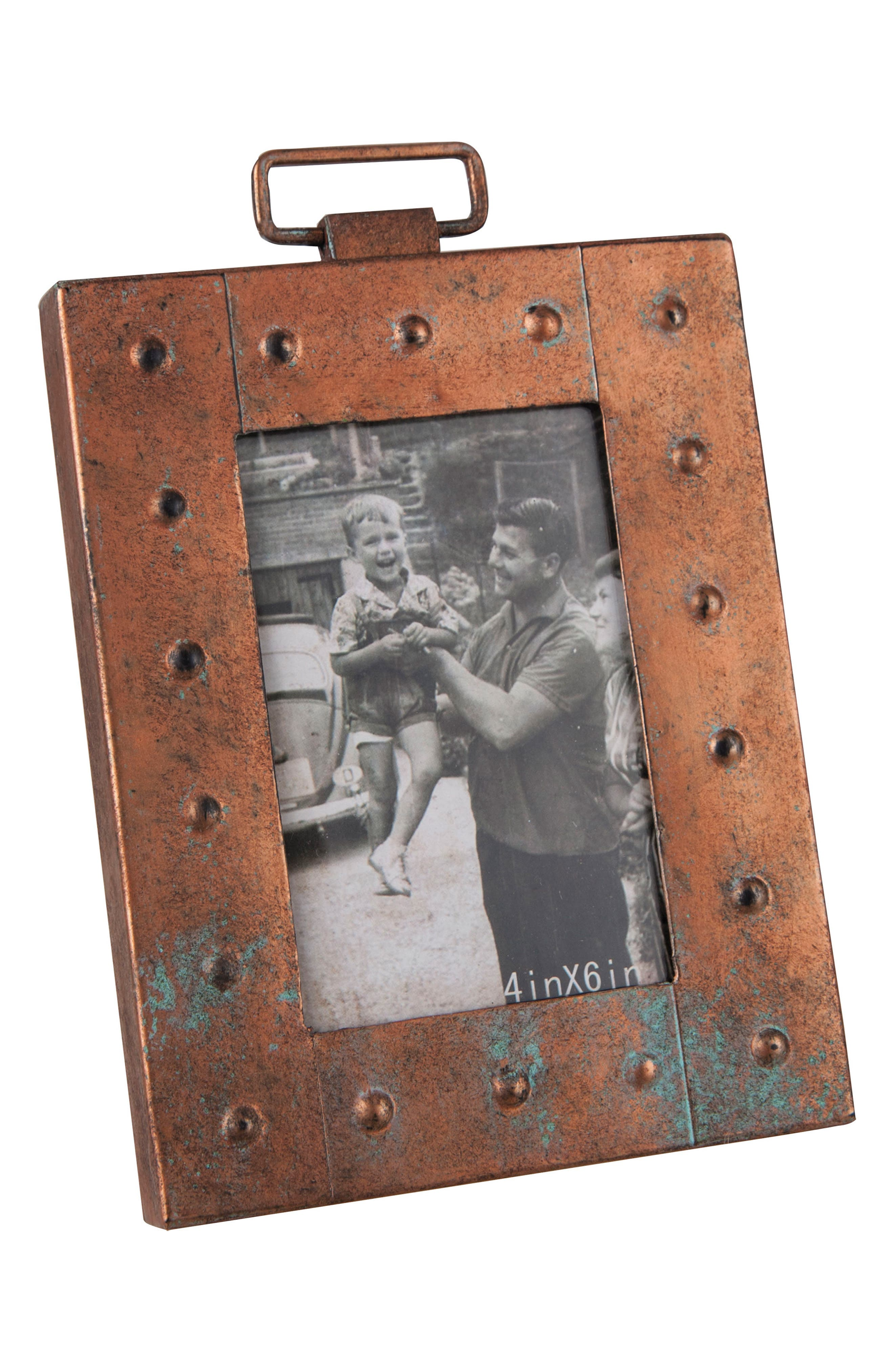 Aviator Picture Frame,                             Main thumbnail 1, color,                             Metal/ Glass