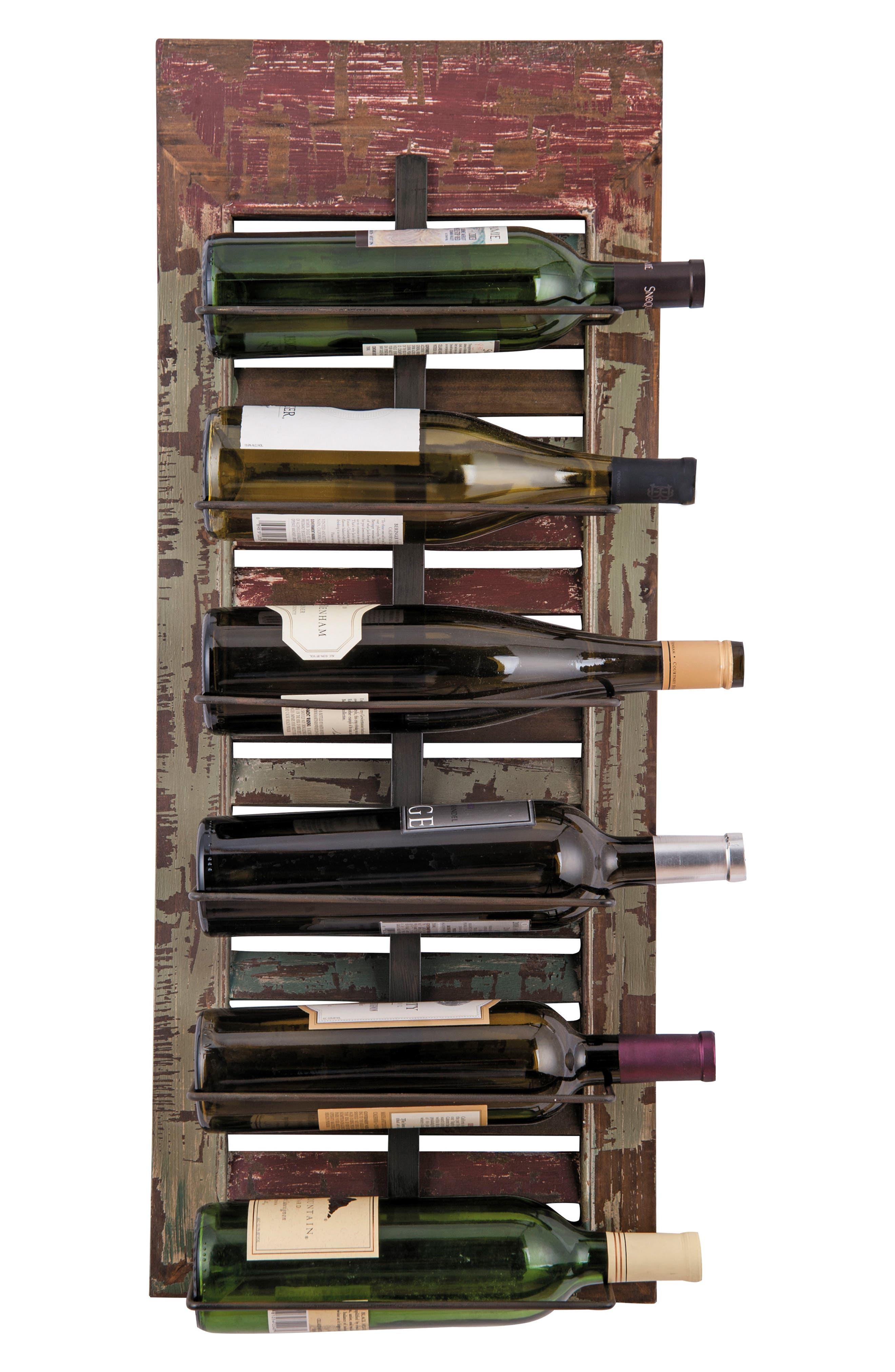 Foreside 6-Bottle Wall Wine Rack