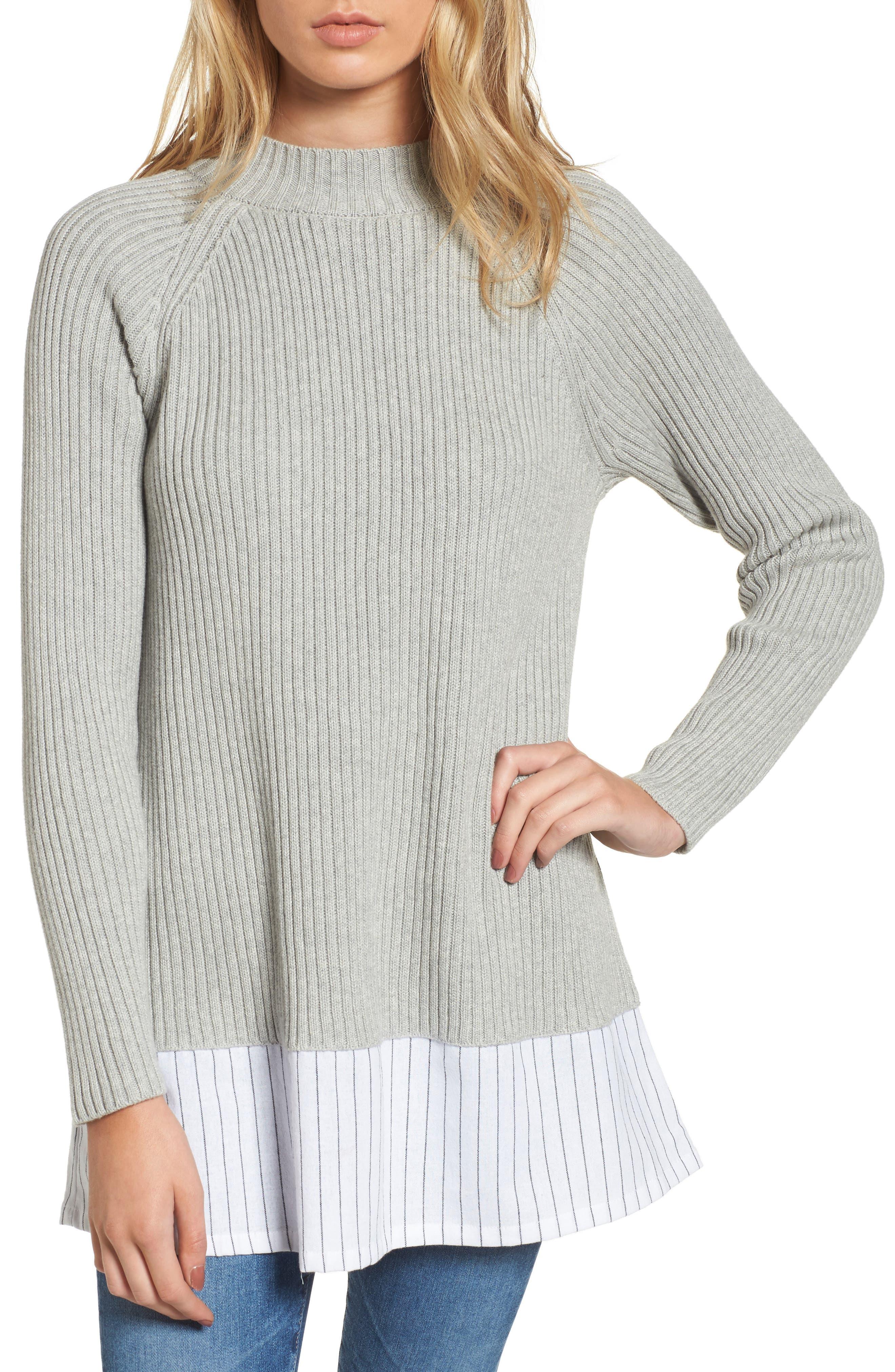 Ila Sweater,                         Main,                         color, Light Grey