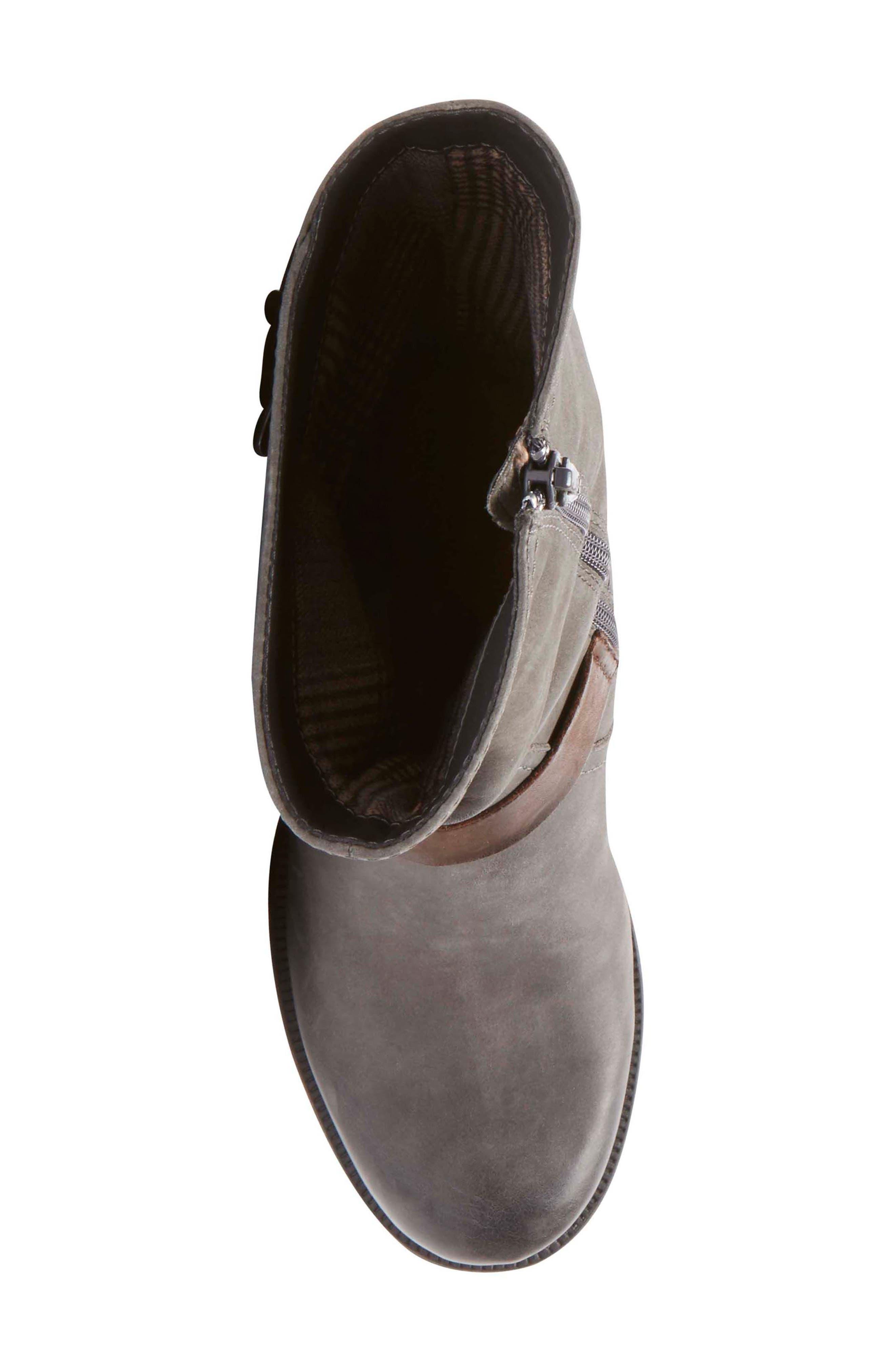 Brunswick Boot,                             Alternate thumbnail 4, color,                             Dark Grey Leather