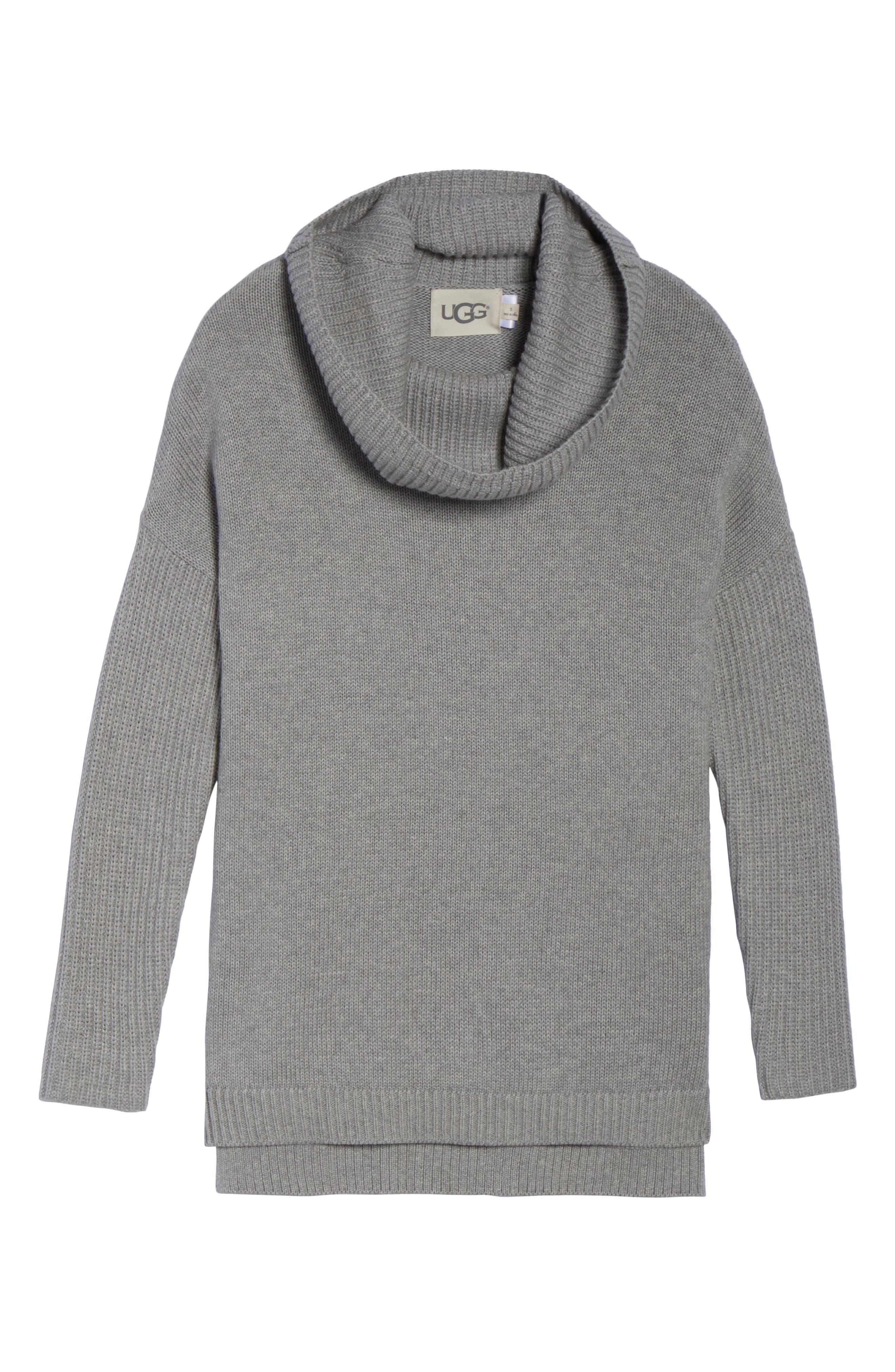 Alternate Image 4  - UGG® Cowl Neck Tunic Sweater