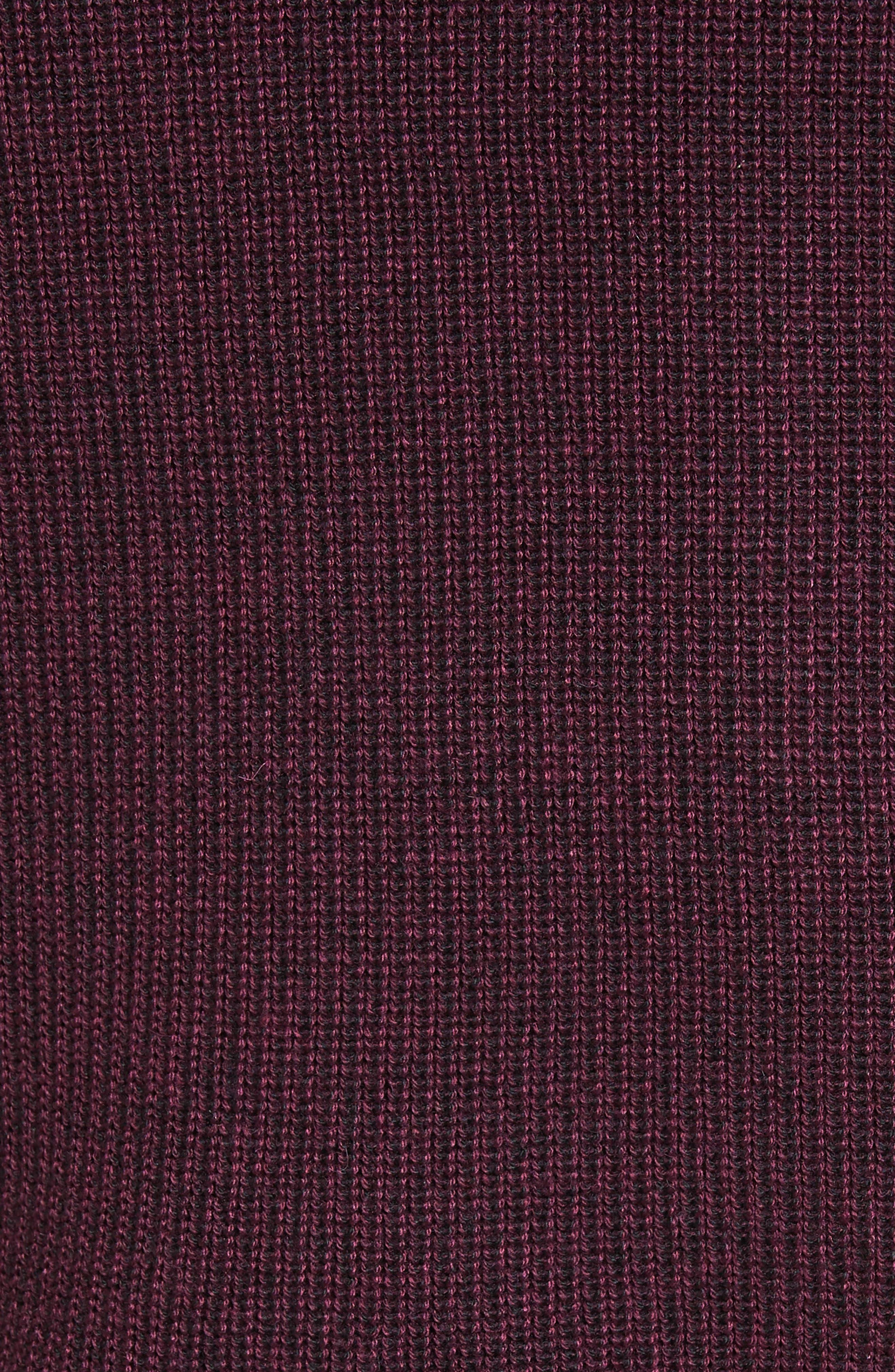 Stach Quarter Zip Sweater,                             Alternate thumbnail 5, color,                             Purple