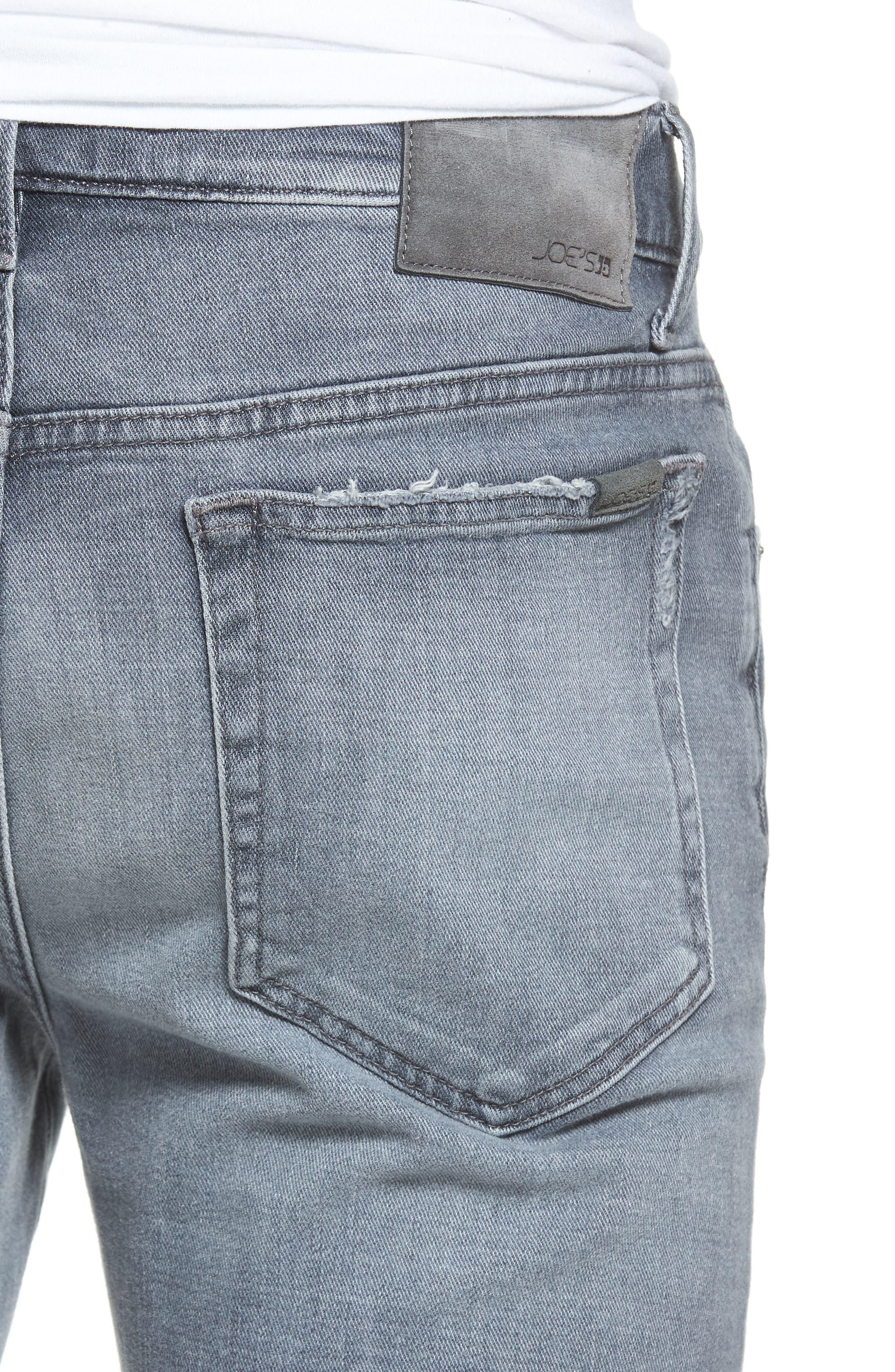 Alternate Image 4  - Joe's Brixton Distressed Slim Straight Fit Jeans (Frehley)
