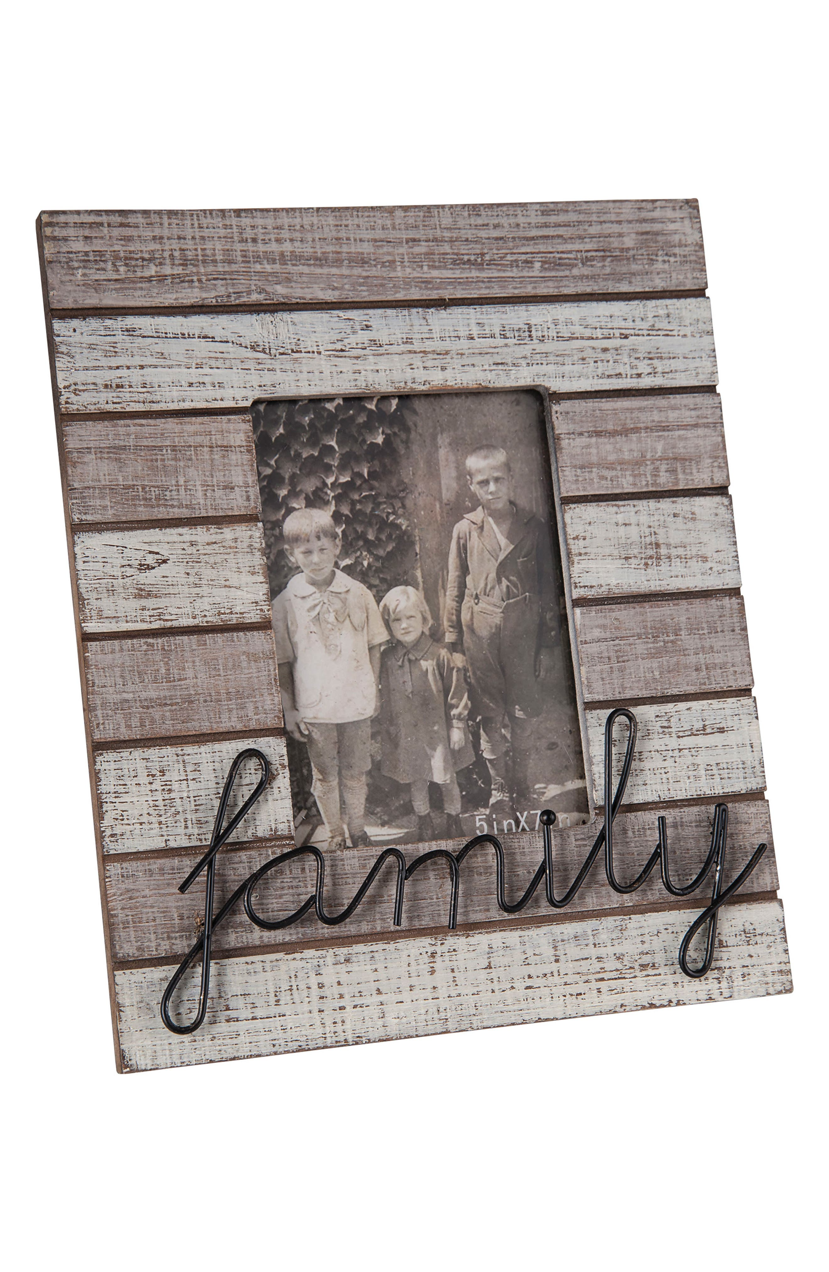 Family Picture Frame,                         Main,                         color, Wood/ Metal/ Glass
