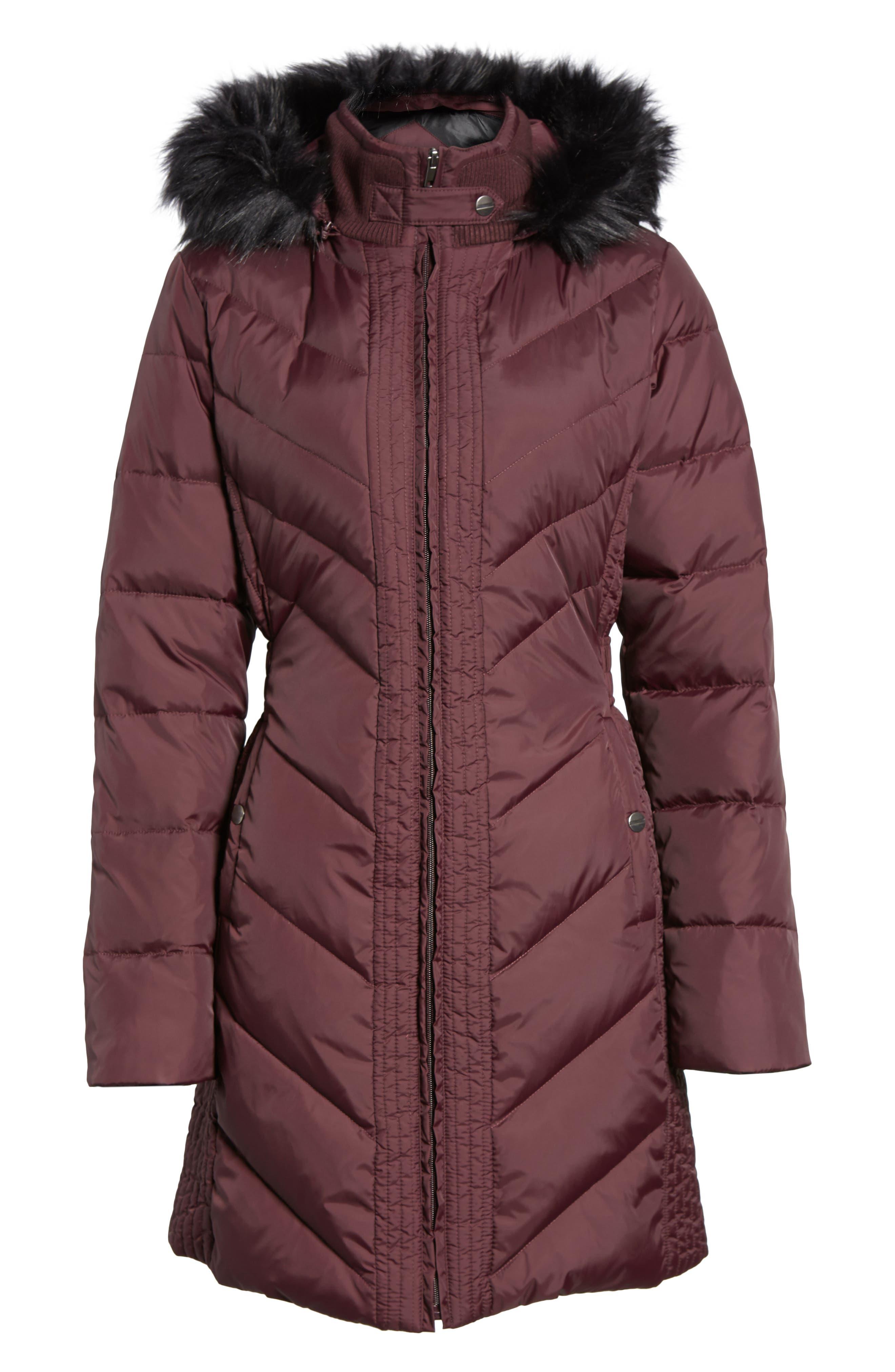 Alternate Image 6  - Larry Levine Faux Fur Trim Hooded Jacket