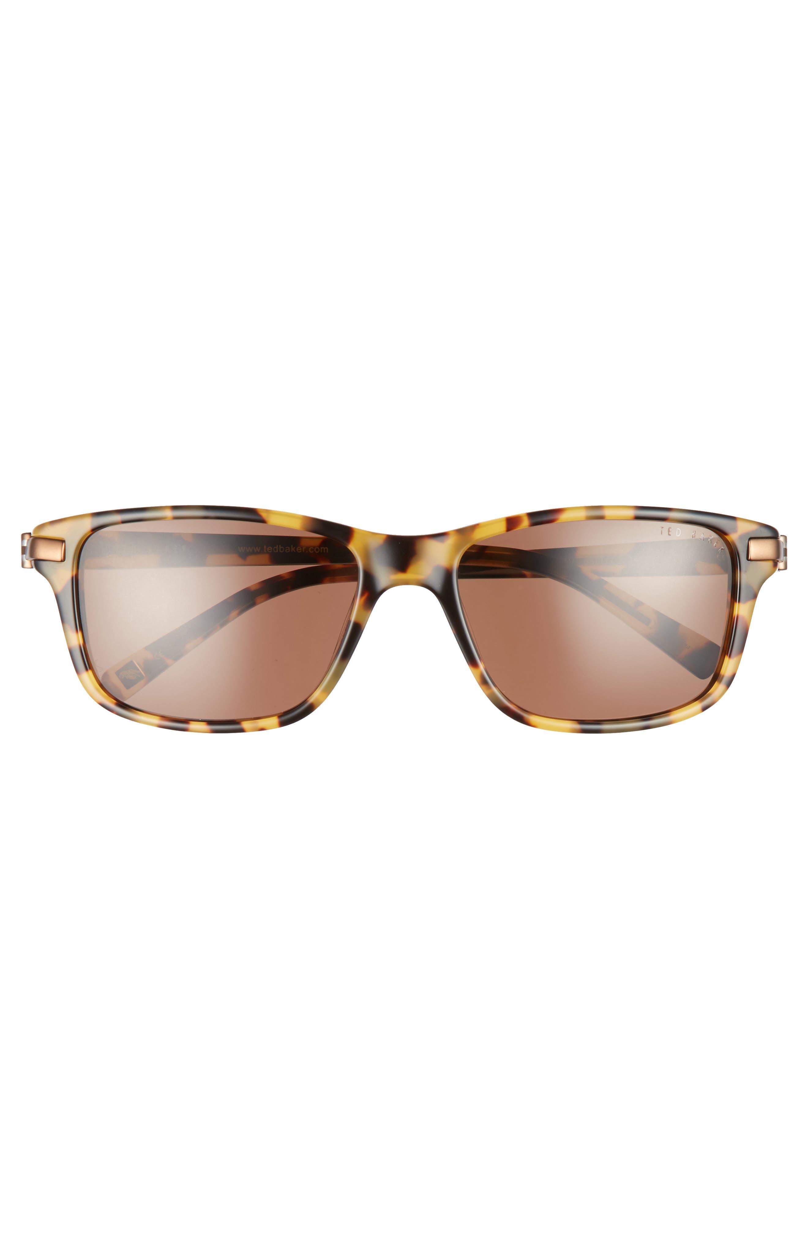55mm Polarized Sunglasses,                             Alternate thumbnail 2, color,                             Havana